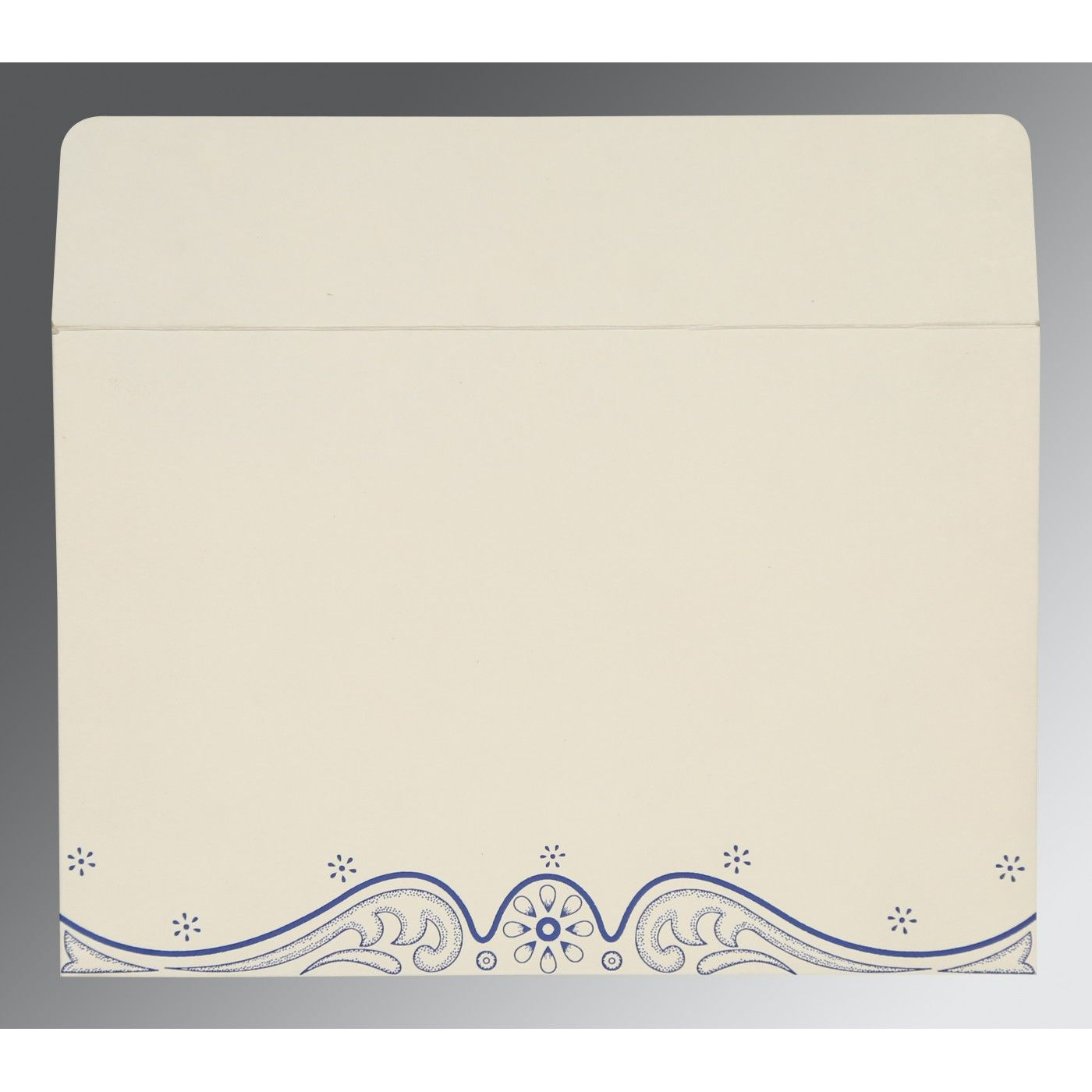 COBALT BLUE MATTE EMBOSSED WEDDING INVITATION : CRU-8221C - IndianWeddingCards