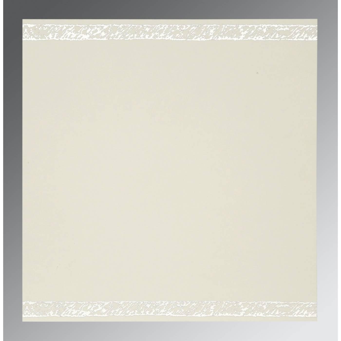 COBALT BLUE SHIMMERY FLORAL THEMED - EMBOSSED WEDDING CARD : CI-8209J - IndianWeddingCards