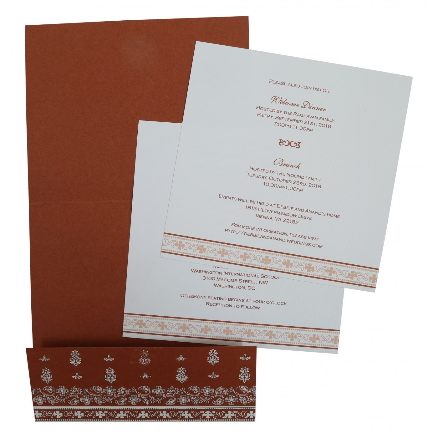 BRICK RED MATTE SCREEN PRINTED WEDDING INVITATION : CS-808D - IndianWeddingCards