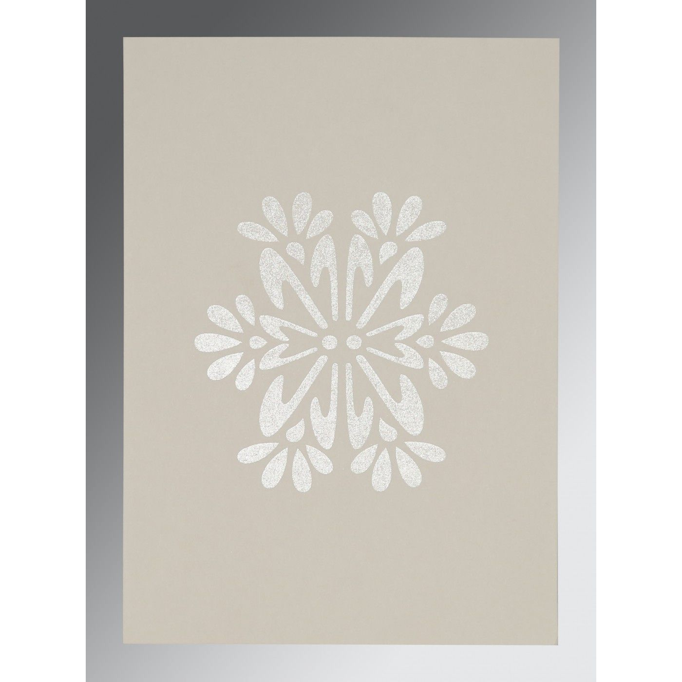 DARK BROWN MATTE FLORAL THEMED - FOIL STAMPED WEDDING INVITATION : CD-8237L - IndianWeddingCards