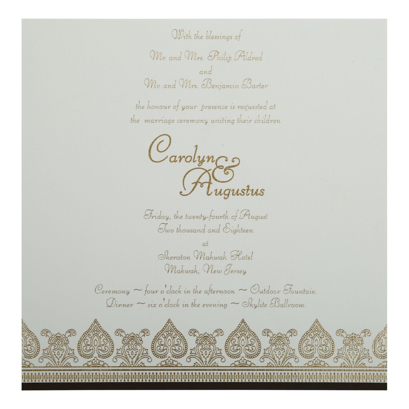 BROWN MATTE SCREEN PRINTED WEDDING INVITATION : CG-809E - IndianWeddingCards