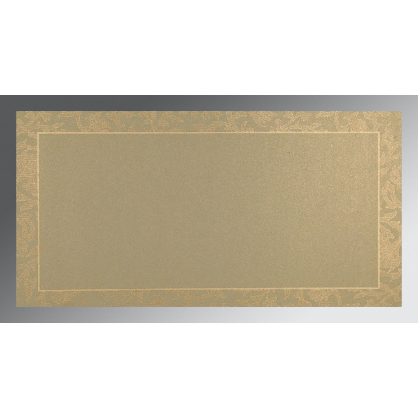 BROWN CREAM SHIMMERY EMBOSSED WEDDING INVITATION : CSO-1426 - IndianWeddingCards