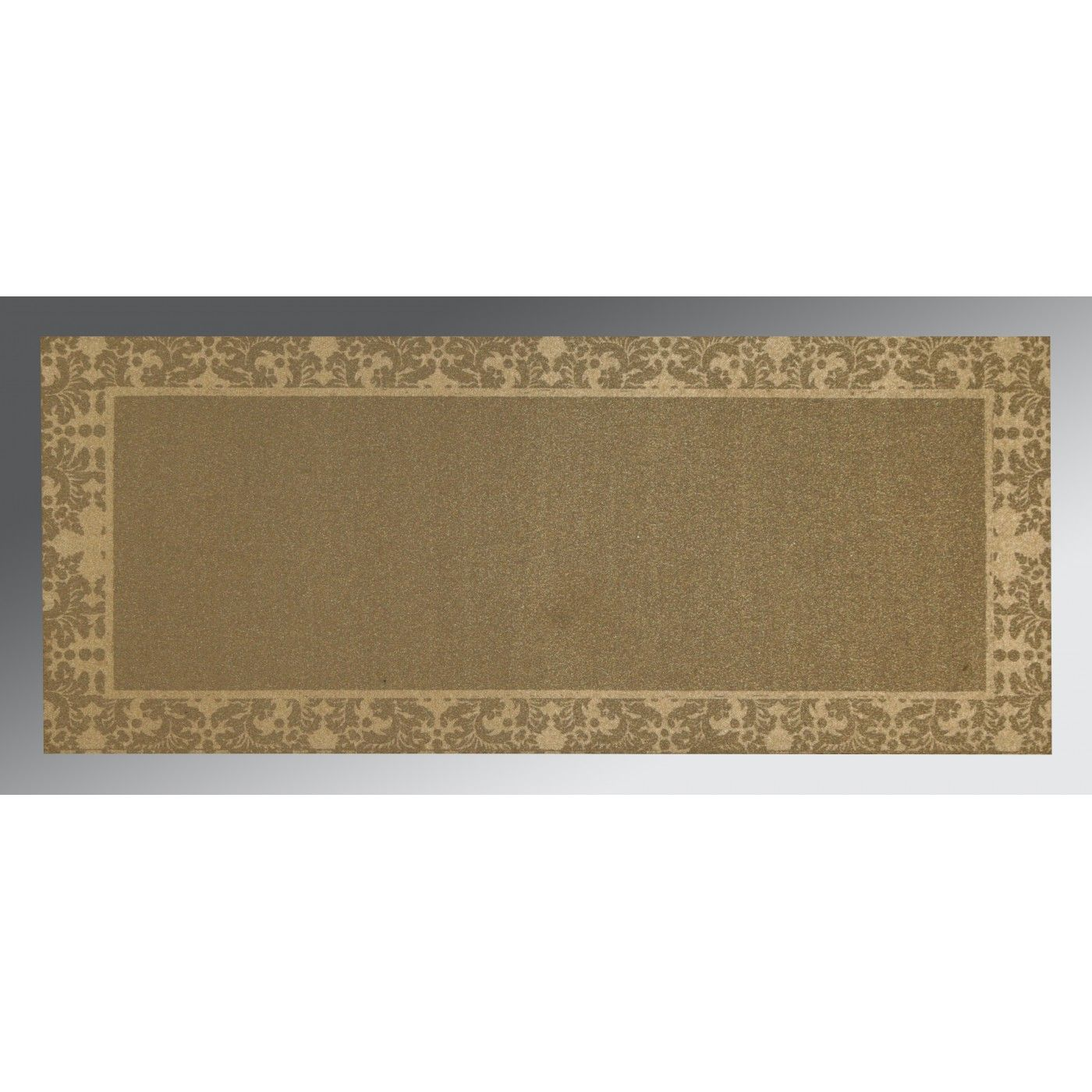 COFFEE BROWN SHIMMERY SCREEN PRINTED WEDDING INVITATION : CG-1500 - IndianWeddingCards