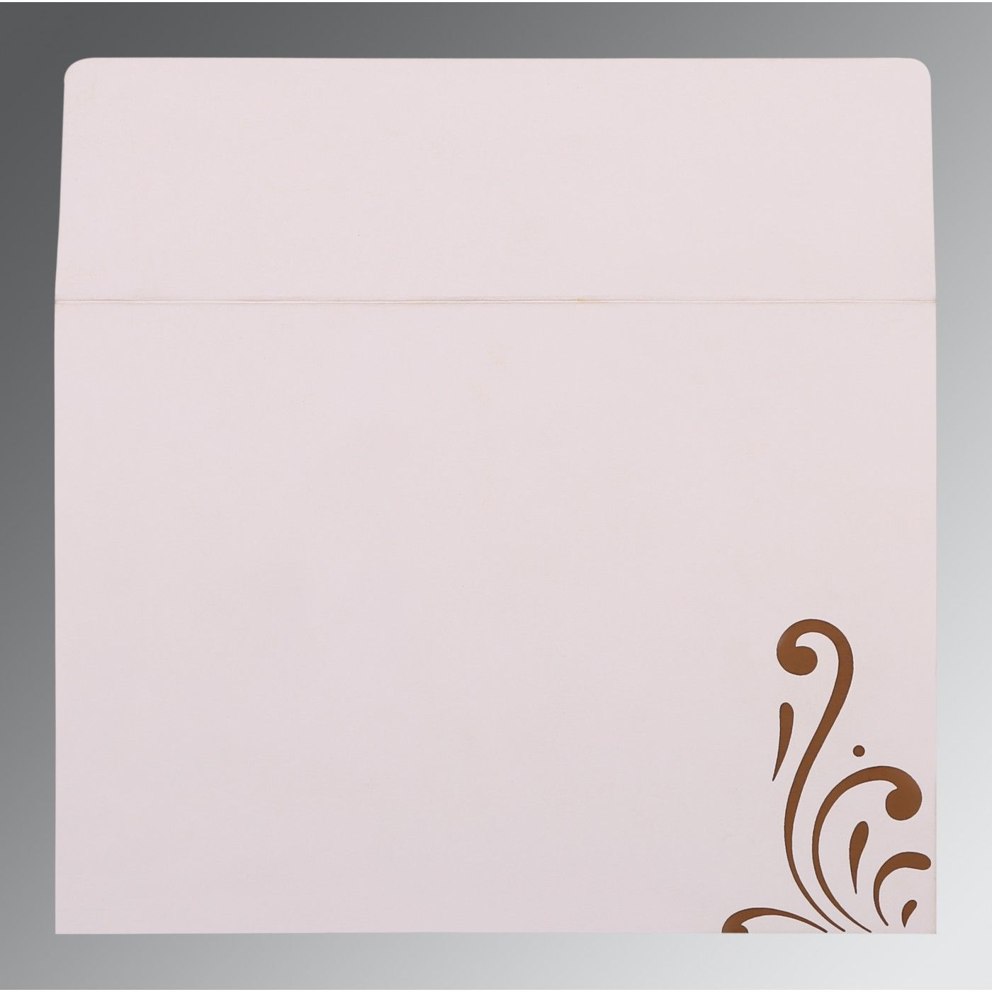 CHOCOLATE SHIMMERY SCREEN PRINTED WEDDING CARD : CI-8223O - IndianWeddingCards