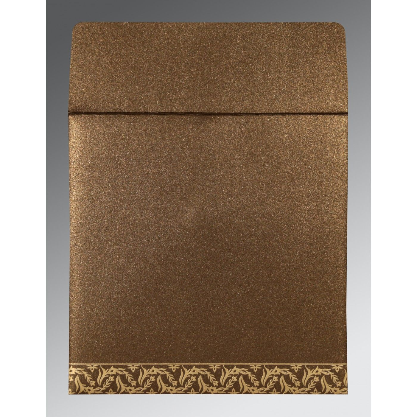 BROWN SHIMMERY UNIQUE THEMED - FOIL STAMPED WEDDING CARD : CW-8249J - IndianWeddingCards