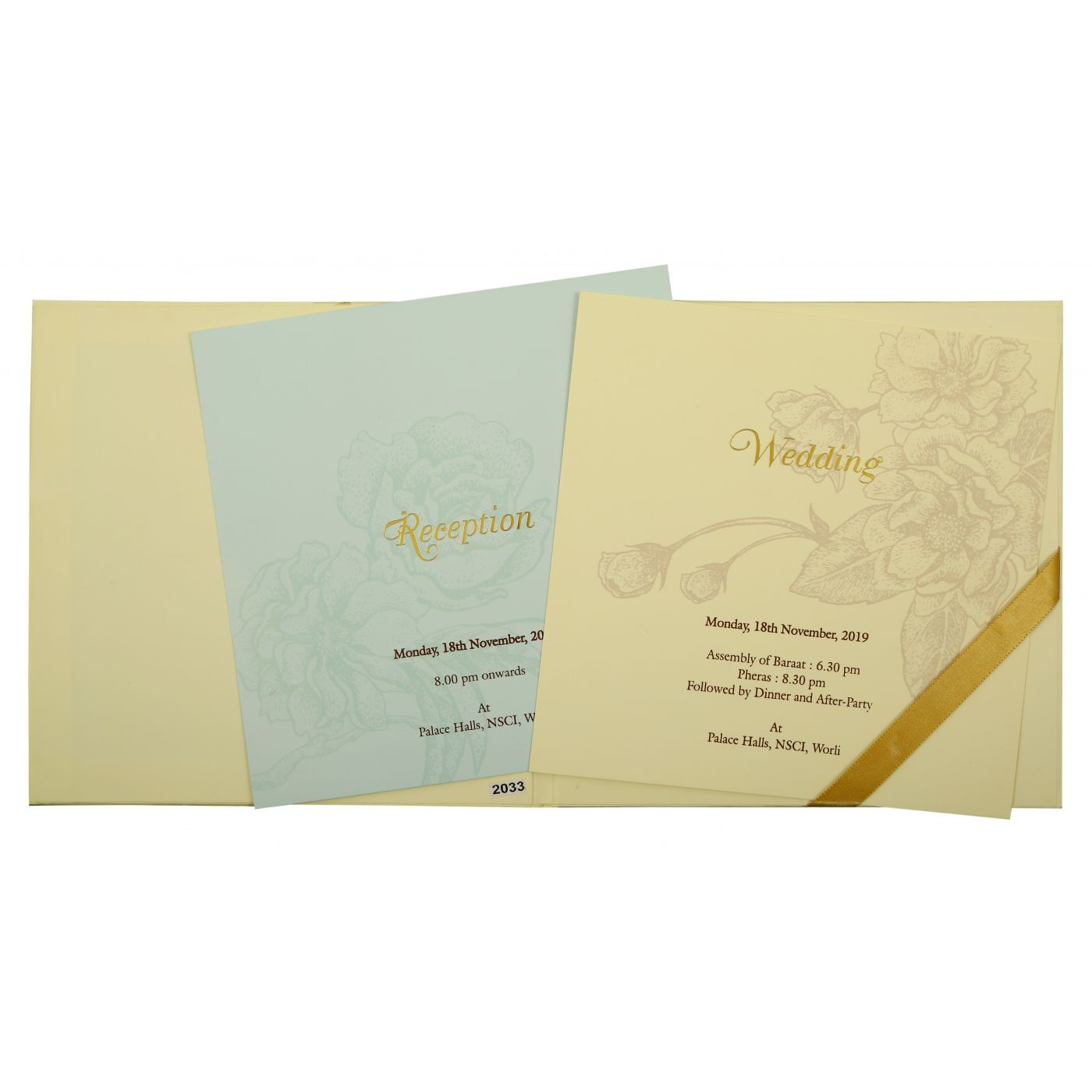 CREAM MATTE BOX THEMED - OFFSET PRINTED WEDDING INVITATION : CD-1861 - IndianWeddingCards