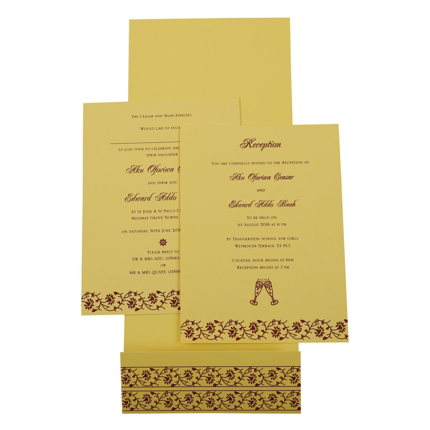 CREAM SHIMMERY FLORAL THEMED - SCREEN PRINTED WEDDING INVITATION : CI-822G - IndianWeddingCards