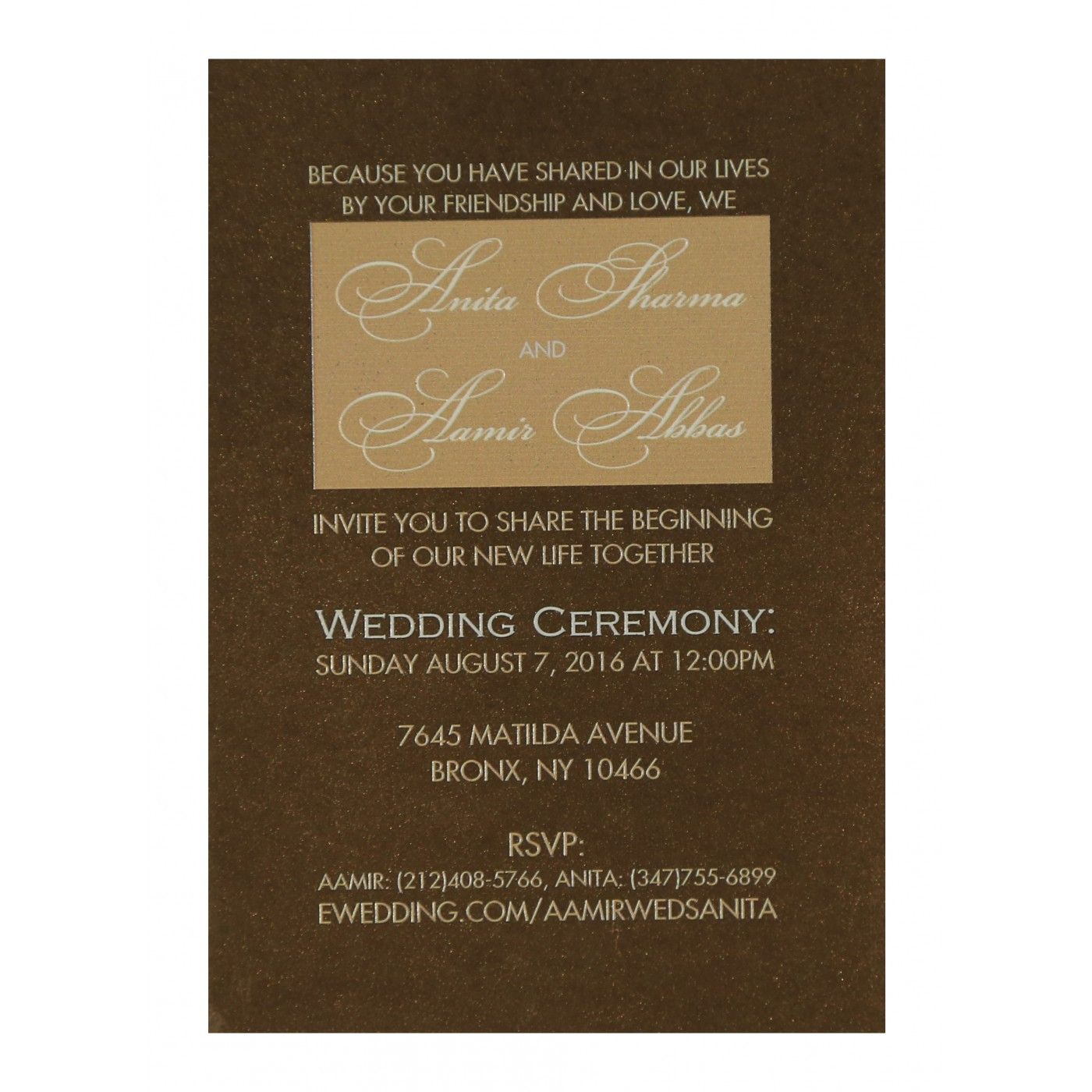 CREAM SHIMMERY LASER CUT WEDDING CARD : CS-1591 - IndianWeddingCards