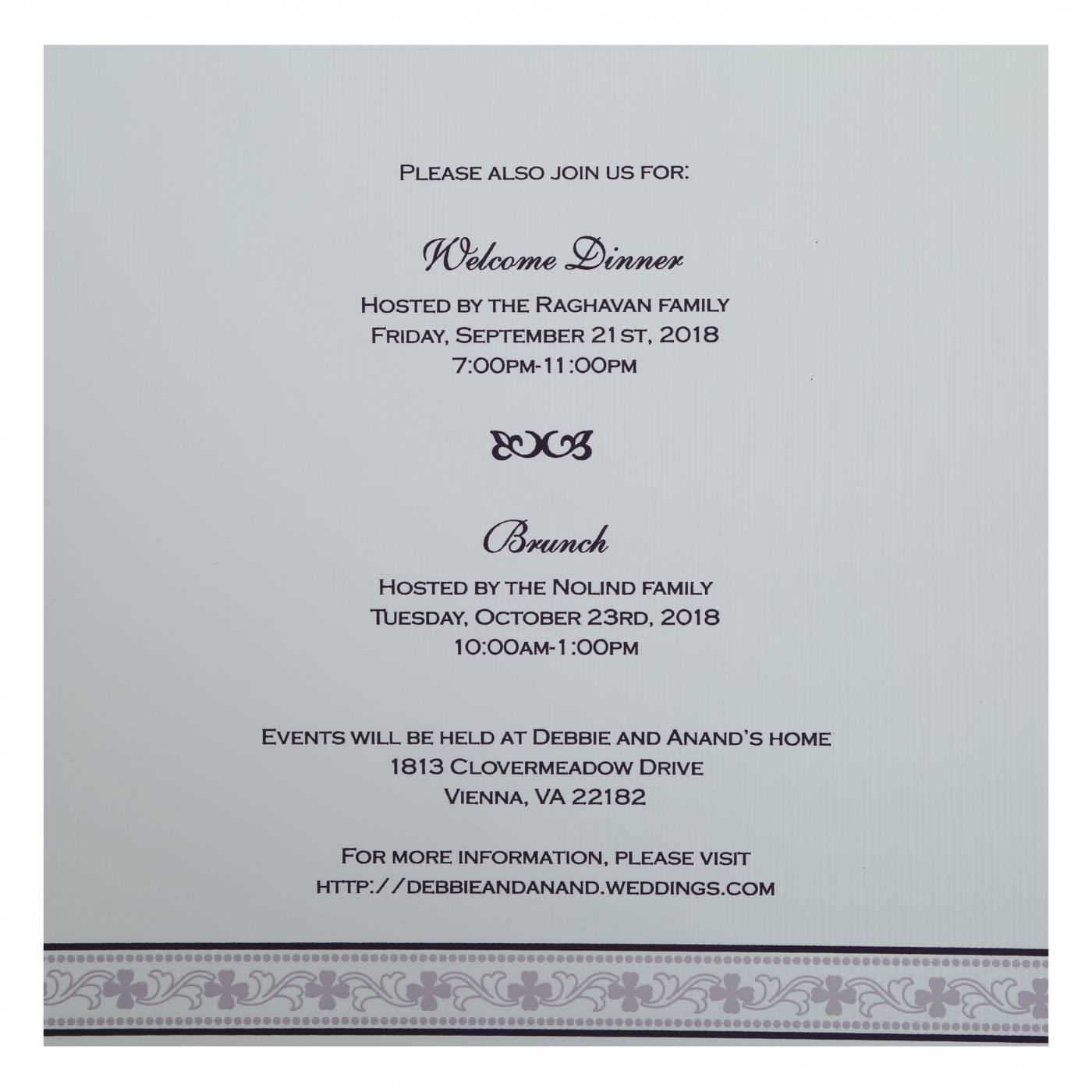 EGGPLANT MATTE SCREEN PRINTED WEDDING INVITATION : CI-808C - IndianWeddingCards