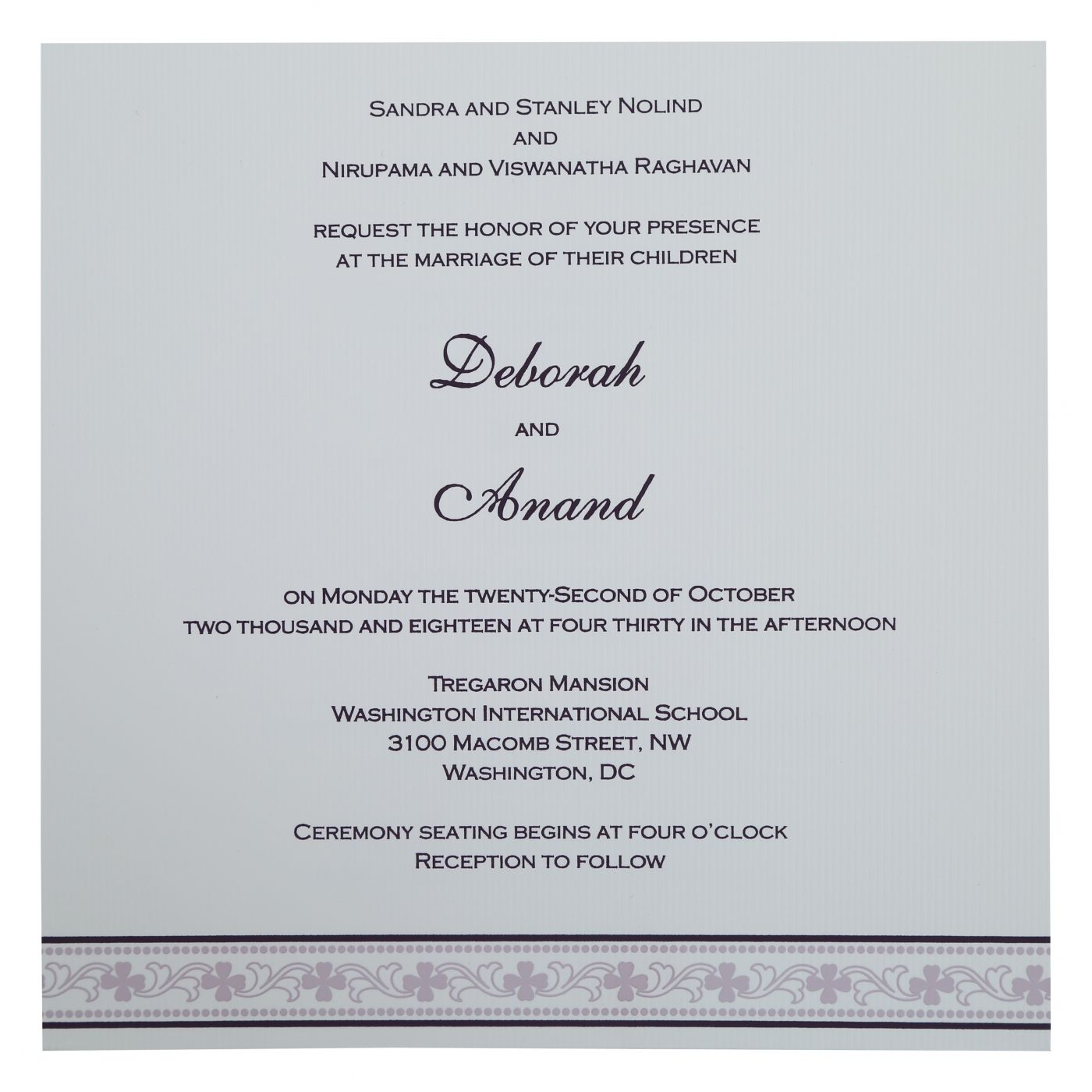 EGGPLANT MATTE SCREEN PRINTED WEDDING INVITATION : CSO-808C - IndianWeddingCards