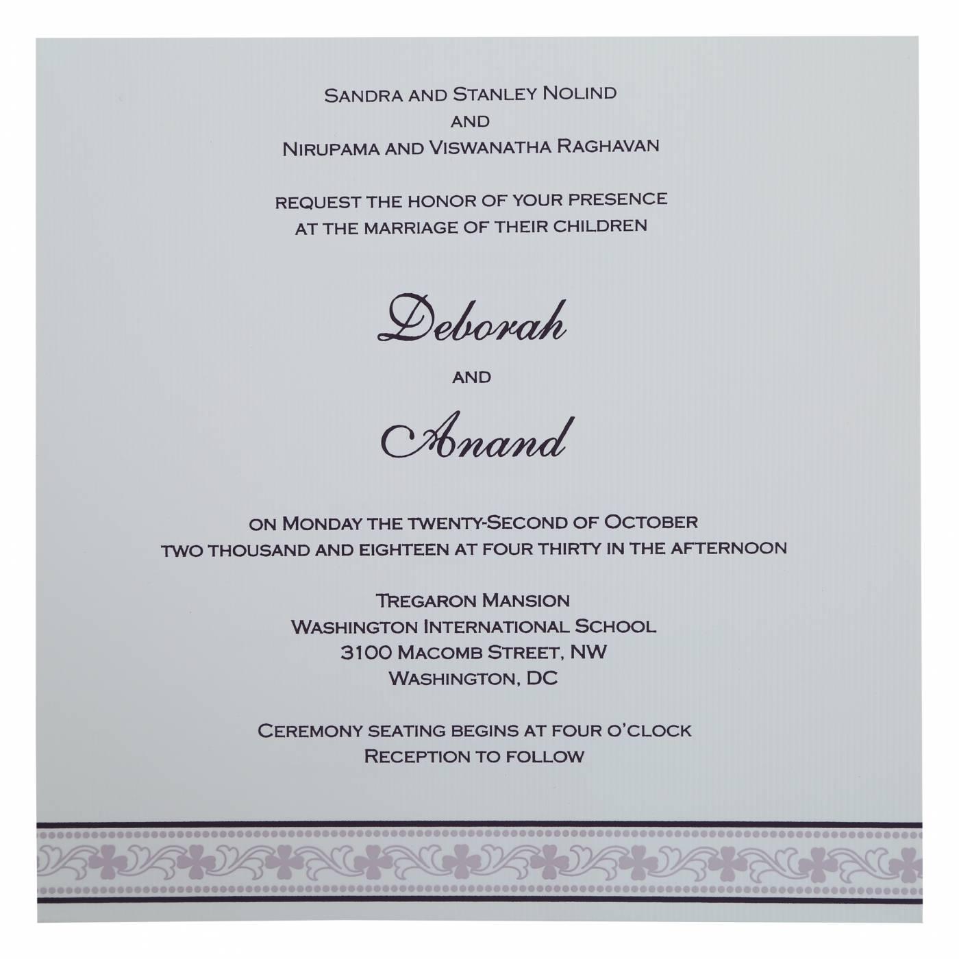 EGGPLANT MATTE SCREEN PRINTED WEDDING INVITATION : CSO-808C - IndianWeddingCards