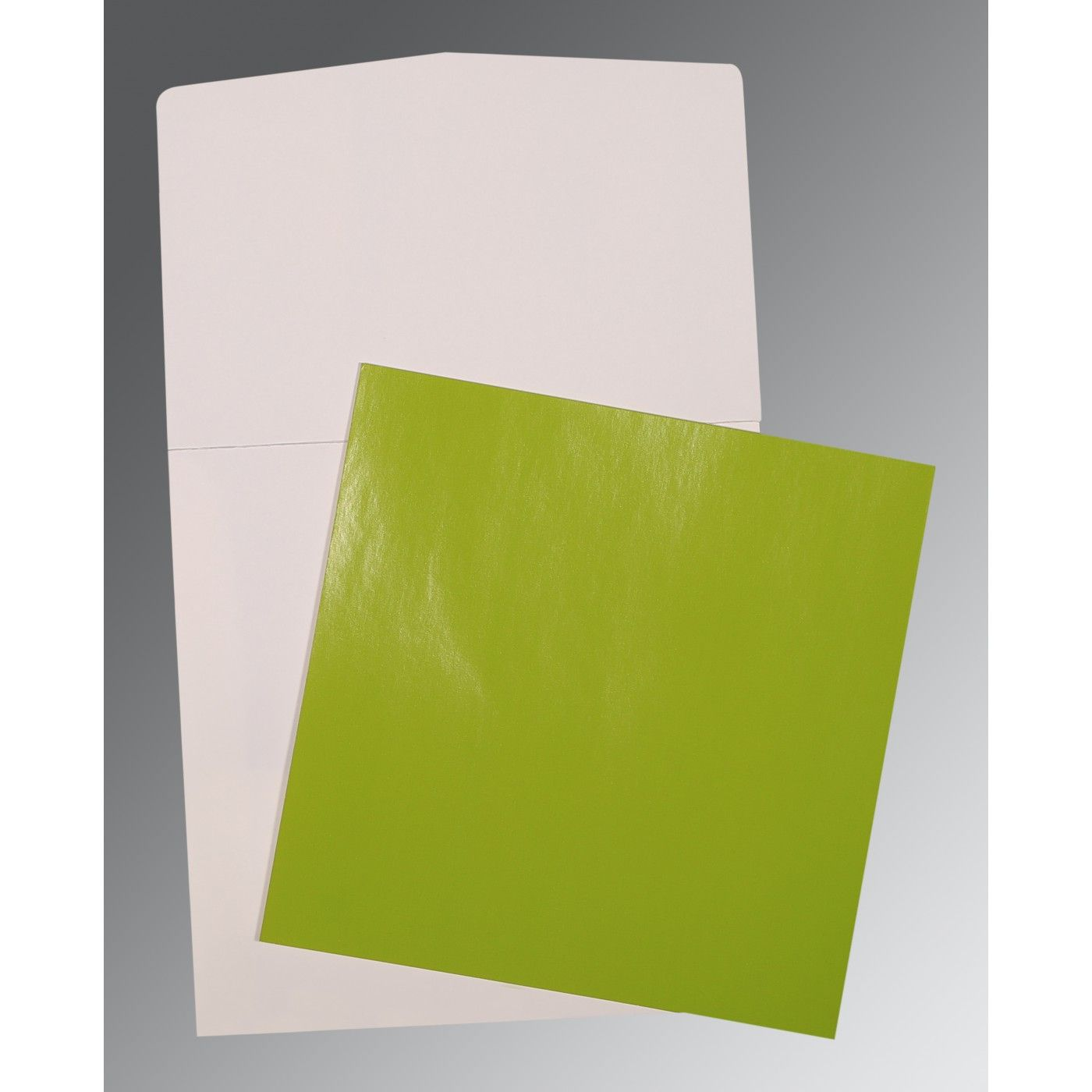 PARROT GREEN GLOSSY PERSONAL CARDS : P-0017 - 123WeddingCards