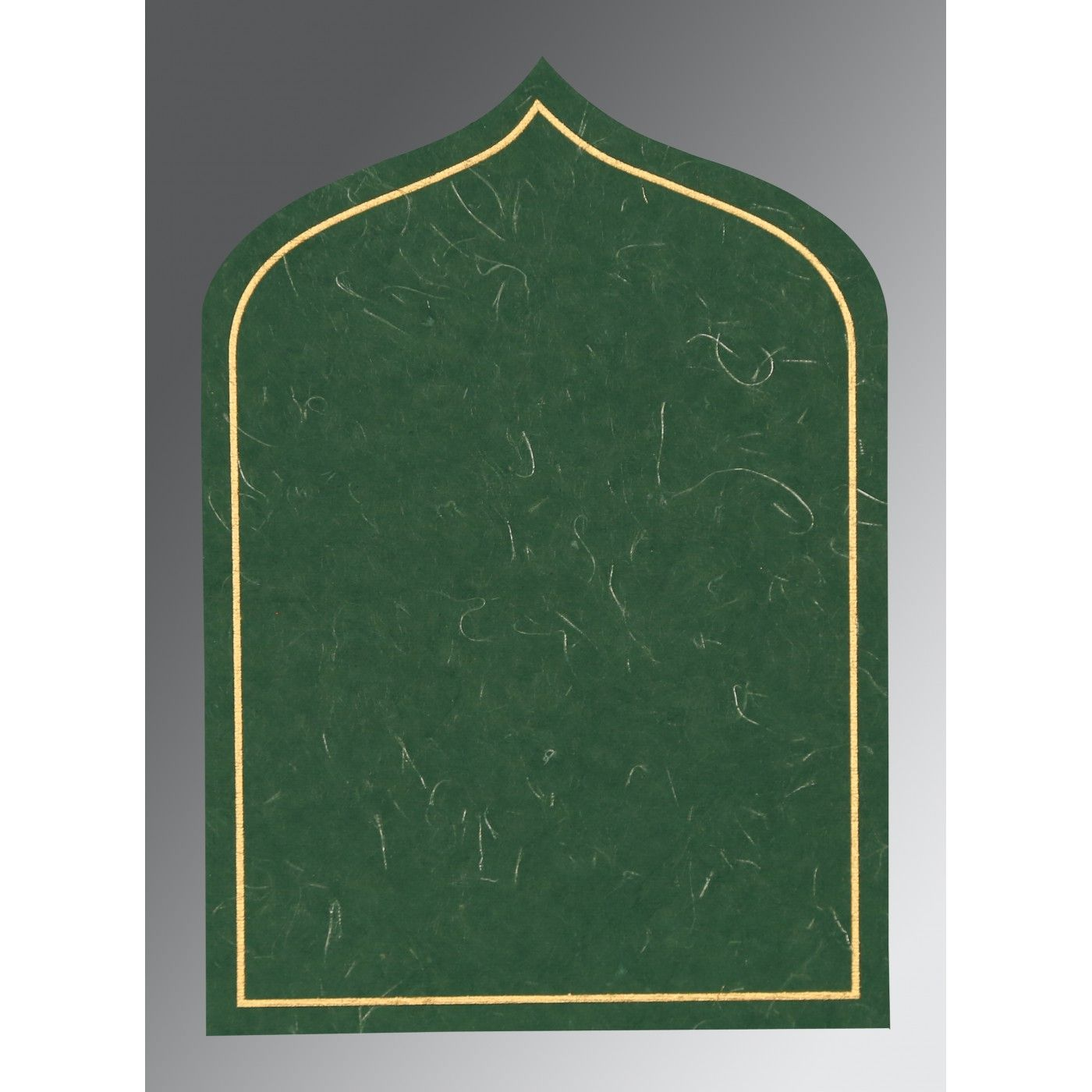 DARK GREEN HANDMADE SILK PAISLEY THEMED - GLITTER WEDDING INVITATION : CSO-8208L - IndianWeddingCards