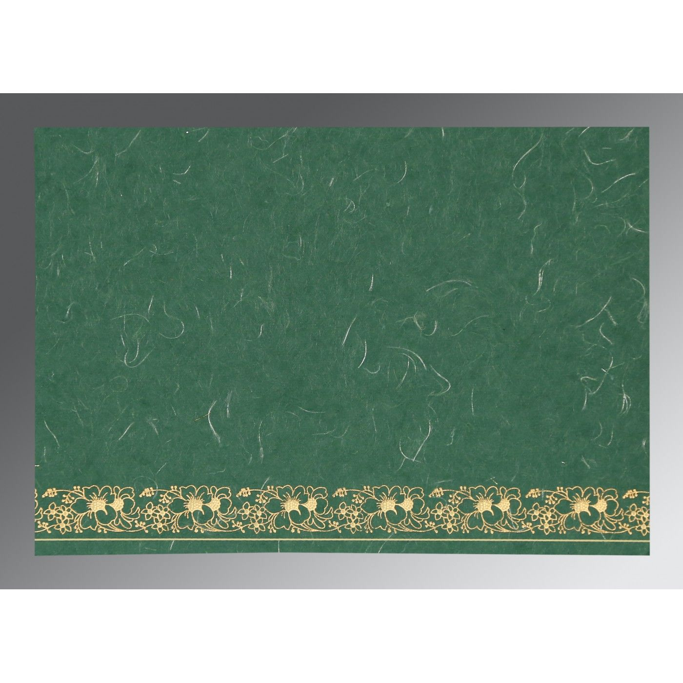 DARK SPRING GREEN HANDMADE SILK SCREEN PRINTED WEDDING INVITATION : CS-8207L - IndianWeddingCards