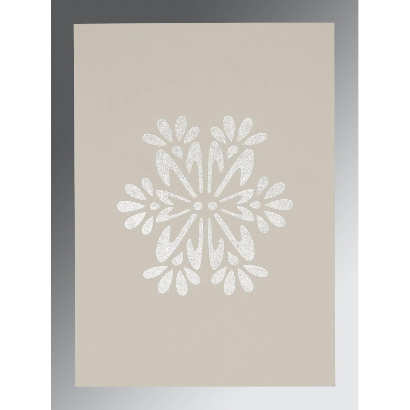 SAGE GREEN MATTE FLORAL THEMED - FOIL STAMPED WEDDING INVITATION : CG-8237I - IndianWeddingCards