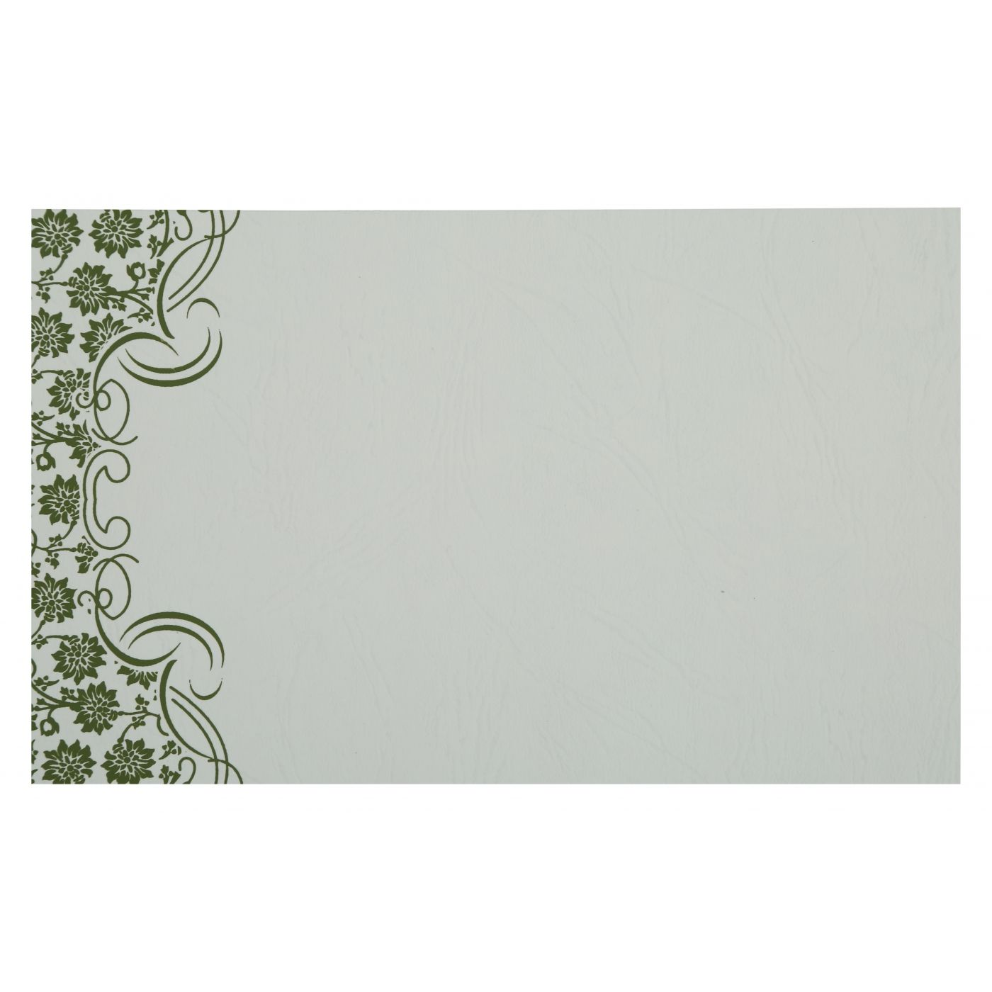 GREEN MATTE FLORAL THEMED - SCREEN PRINTED WEDDING INVITATION : CI-810D - IndianWeddingCards