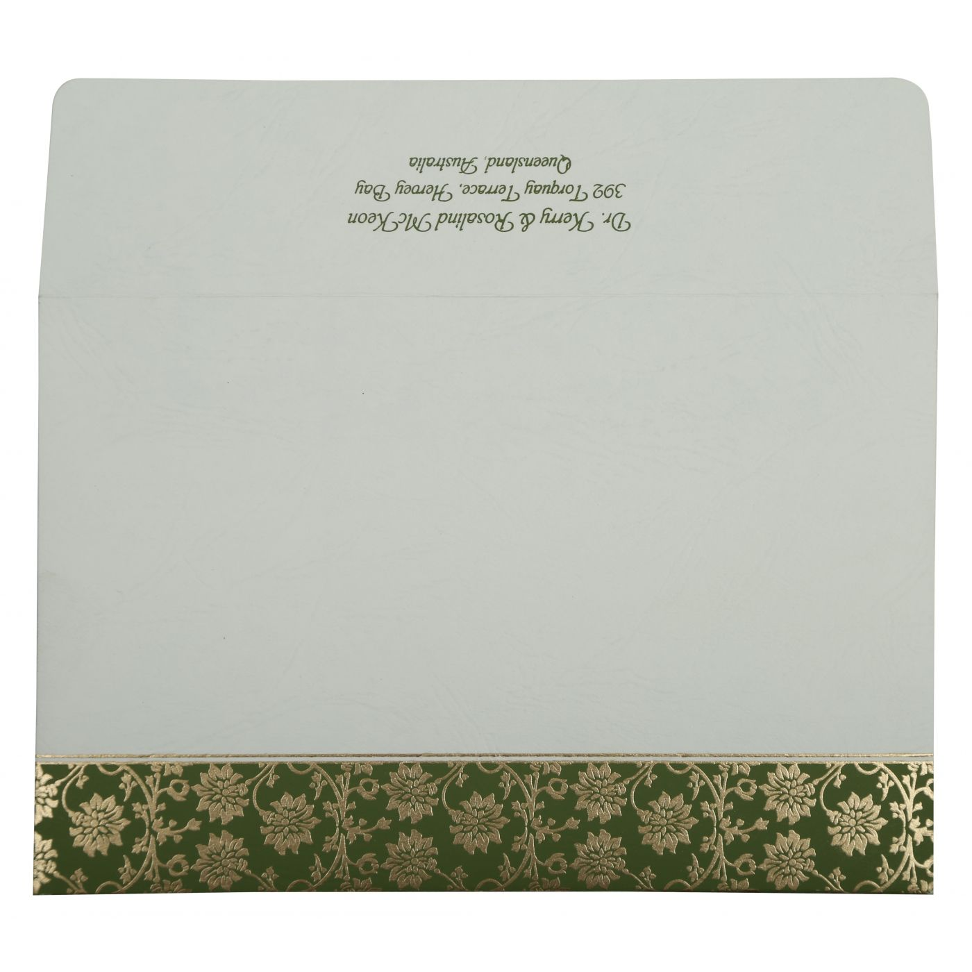 GREEN MATTE FLORAL THEMED - SCREEN PRINTED WEDDING INVITATION : CS-810D - IndianWeddingCards