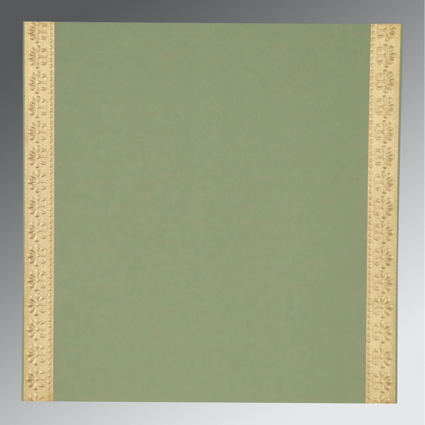 SAGE GREEN MATTE PAISLEY THEMED - EMBOSSED WEDDING INVITATION : CI-8231G - IndianWeddingCards