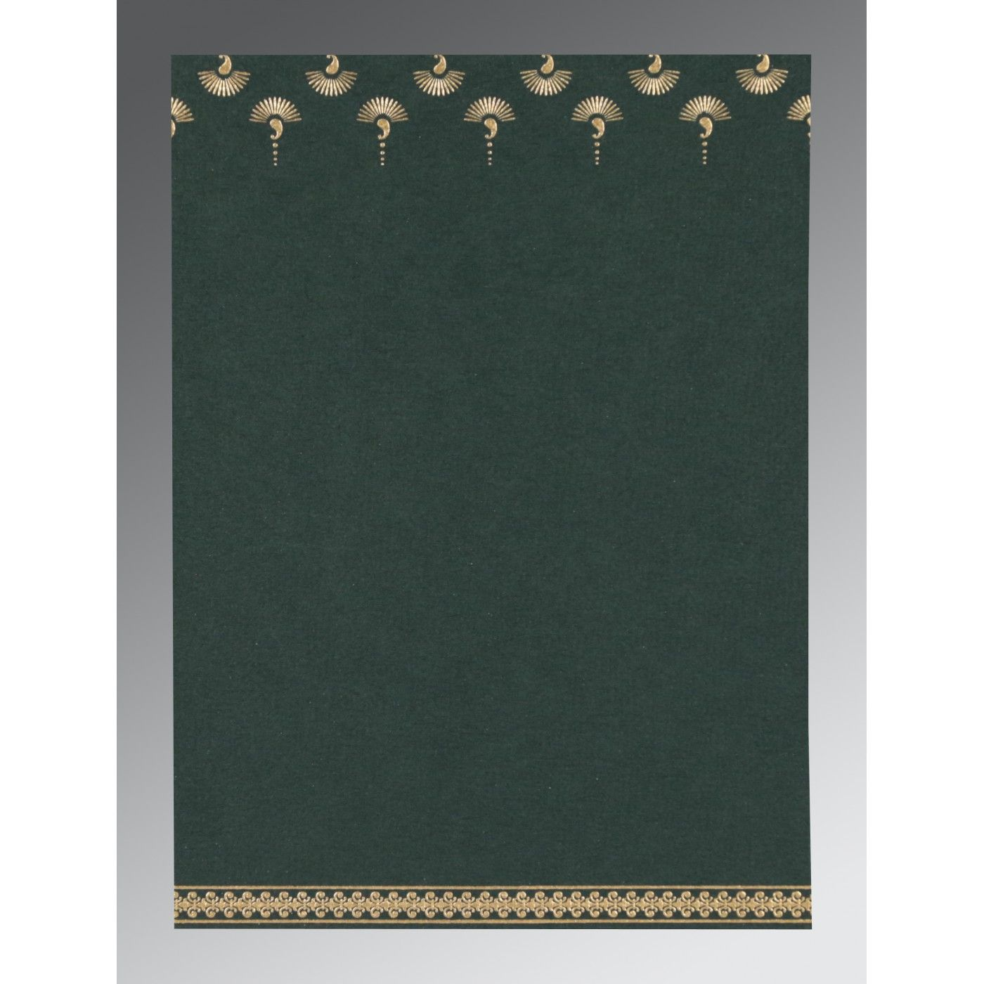 DARK GREEN MATTE SCREEN PRINTED WEDDING INVITATION : CD-8247N - IndianWeddingCards