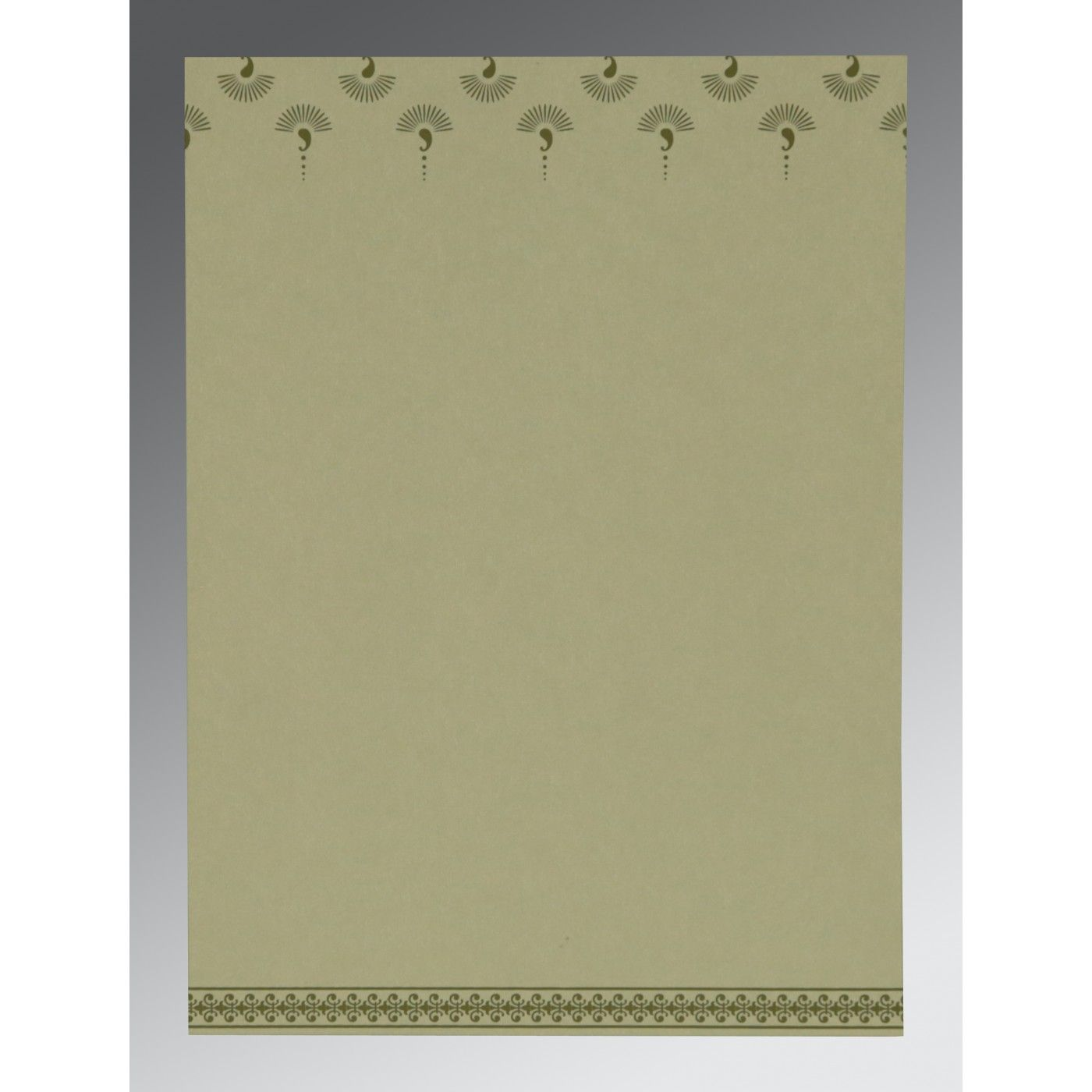 SAGE GREEN MATTE SCREEN PRINTED WEDDING INVITATION : CS-8247L - IndianWeddingCards