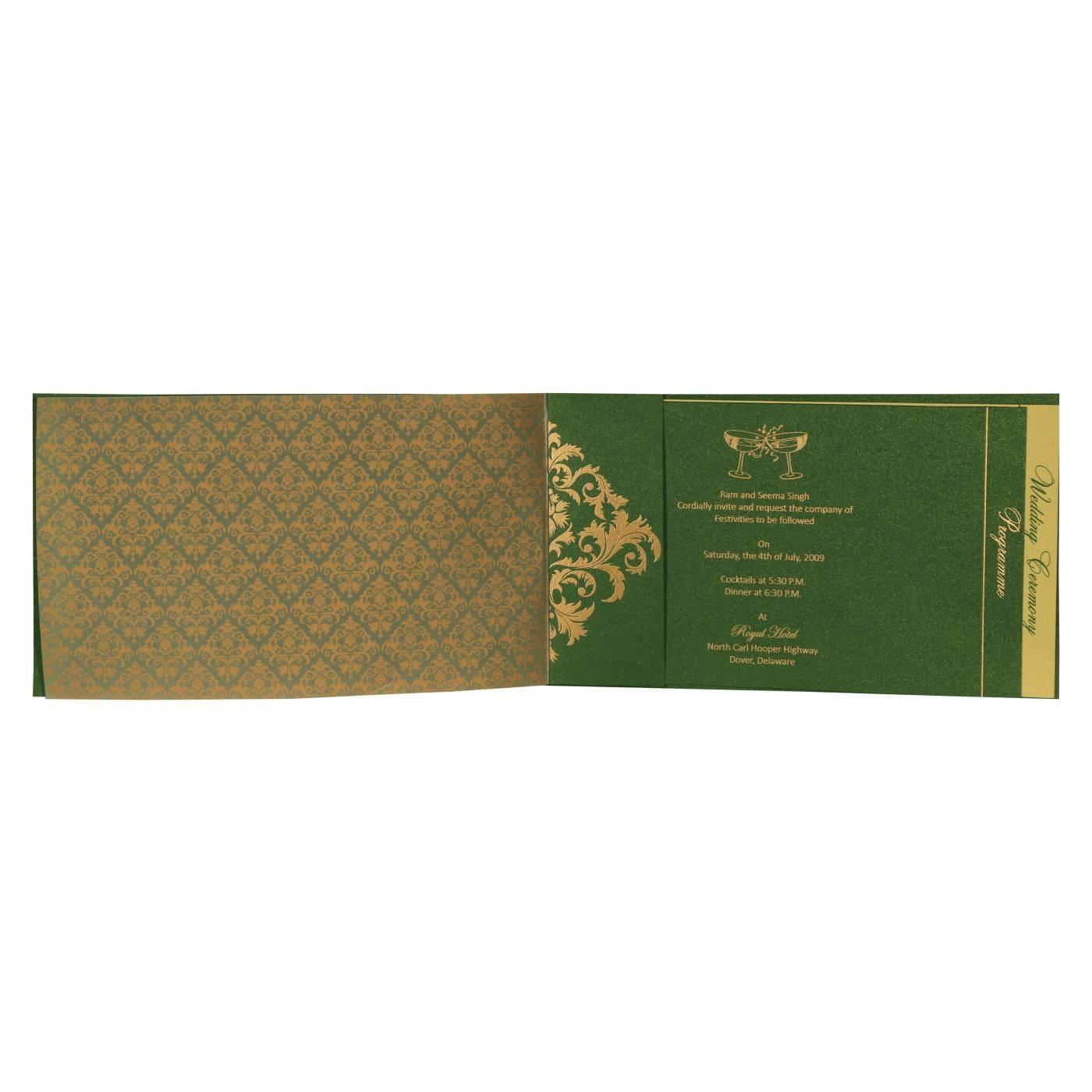 WEDDING CARD : CC-8257F - IndianWeddingCards