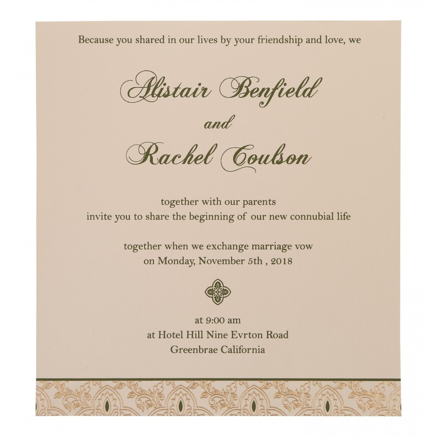 WEDDING INVITATION : CC-800A - IndianWeddingCards