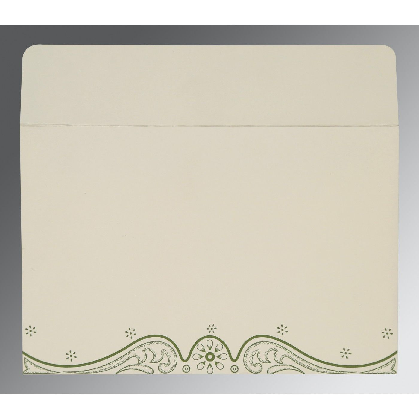 DEEP SAGE MATTE EMBOSSED WEDDING INVITATION : C-G-8221D - IndianWeddingCards