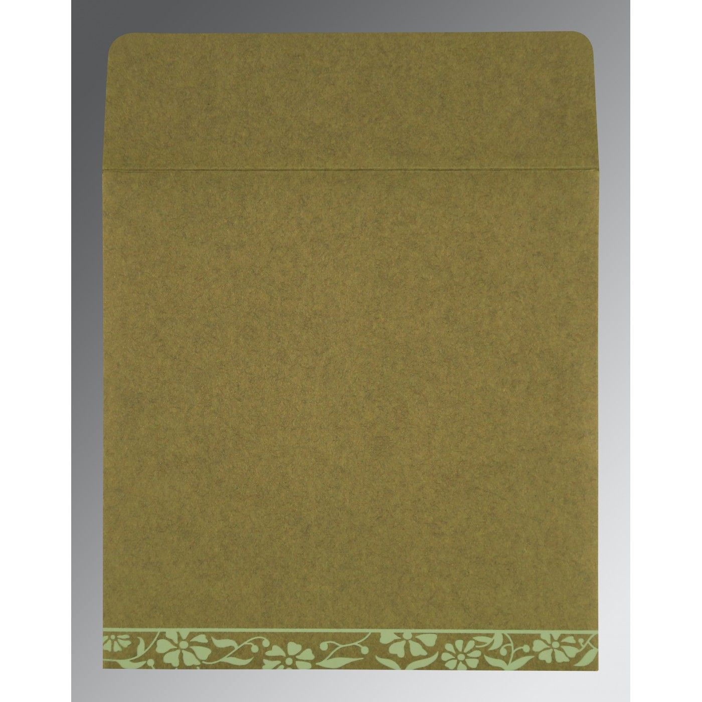 FERN GREEN MATTE FLORAL THEMED - SCREEN PRINTED WEDDING CARD : CI-8222D - IndianWeddingCards
