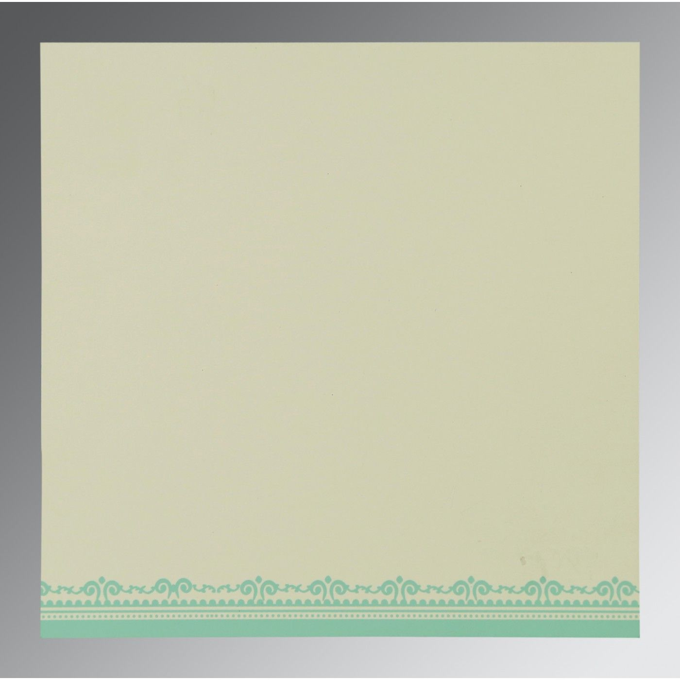 PISTA GREEN WOOLY GLITTER WEDDING CARD : CS-8205N - IndianWeddingCards