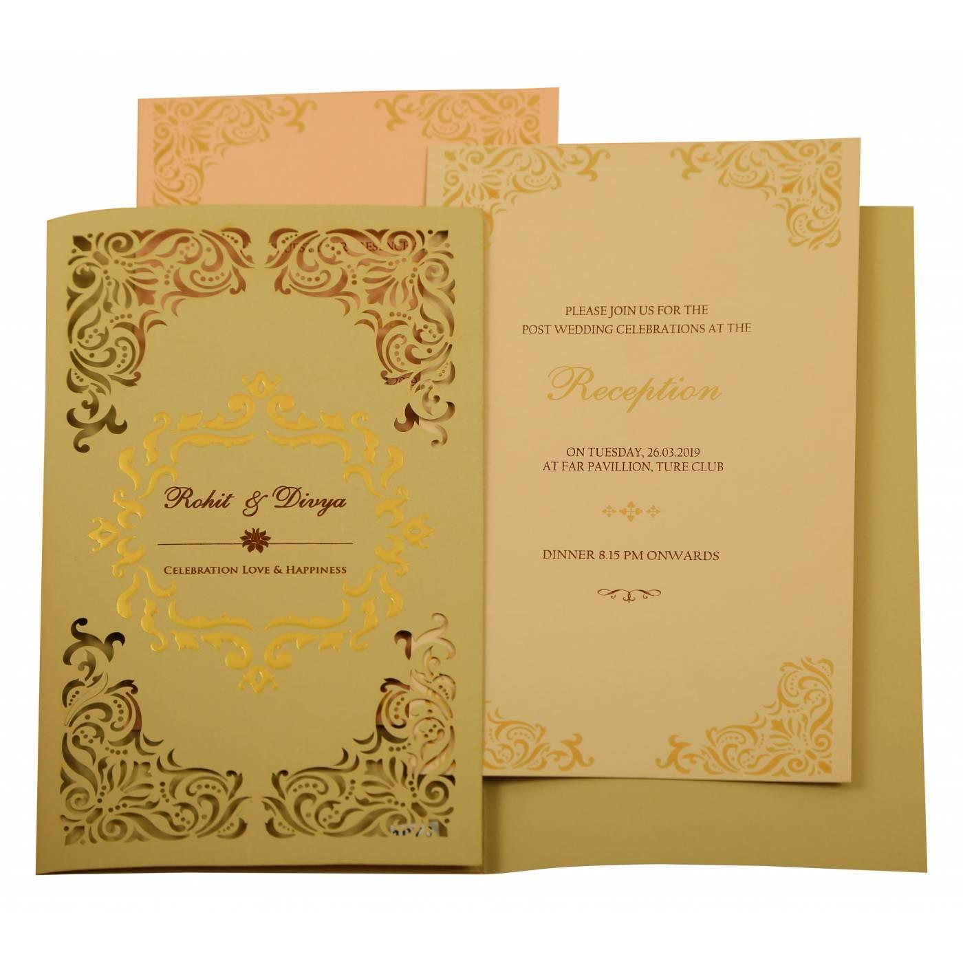 WEDDING INVITATION : CC-1908 - IndianWeddingCards