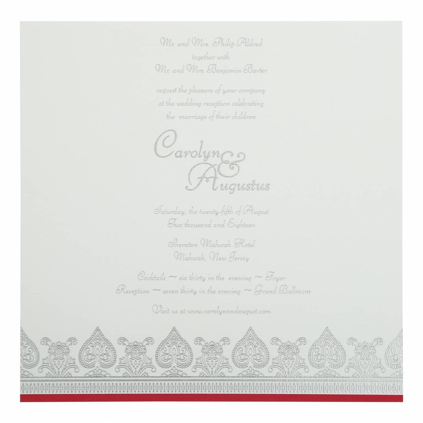 HOT PINK MATTE SCREEN PRINTED WEDDING INVITATION : CSO-809B - IndianWeddingCards
