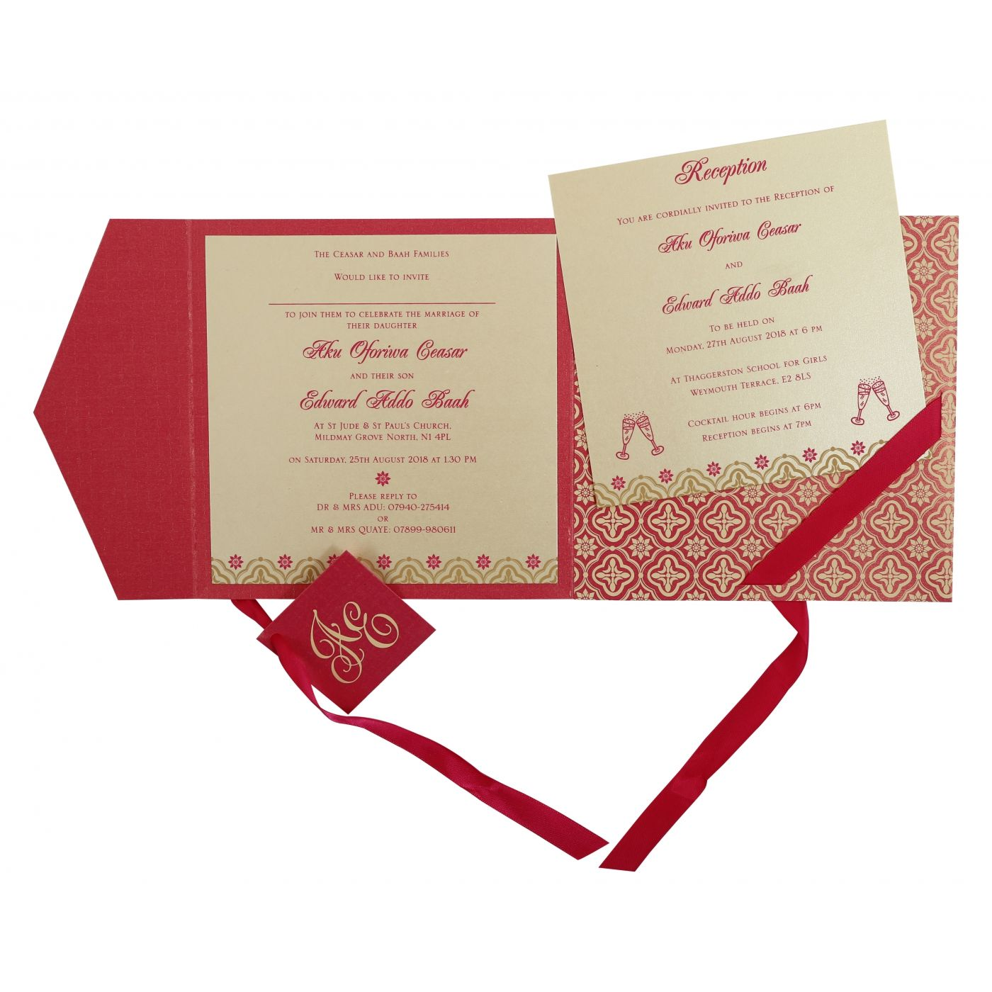 HOT PINK SHIMMERY SCREEN PRINTED WEDDING INVITATION : CS-805A - IndianWeddingCards