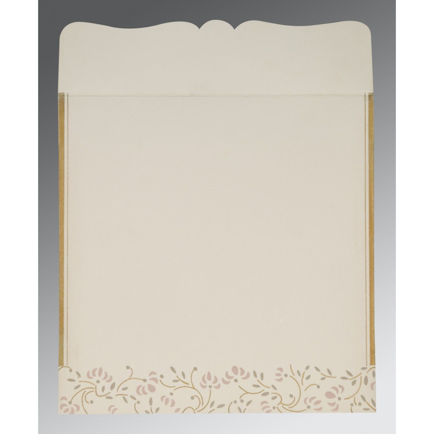 OFF-WHITE MATTE EMBOSSED WEDDING INVITATION : CIN-2153 - IndianWeddingCards