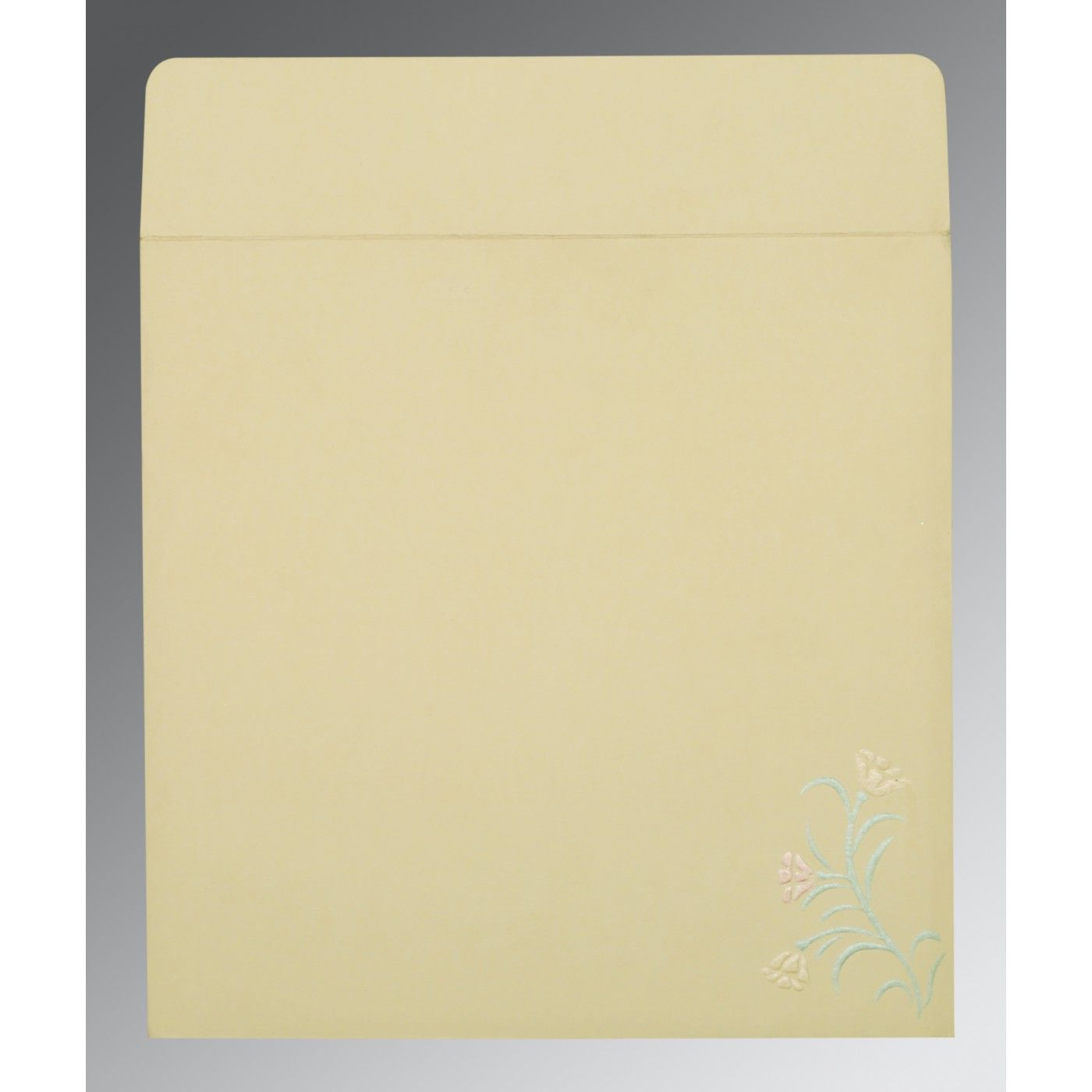 CREAM MATTE EMBOSSED WEDDING CARD : CS-1203 - IndianWeddingCards
