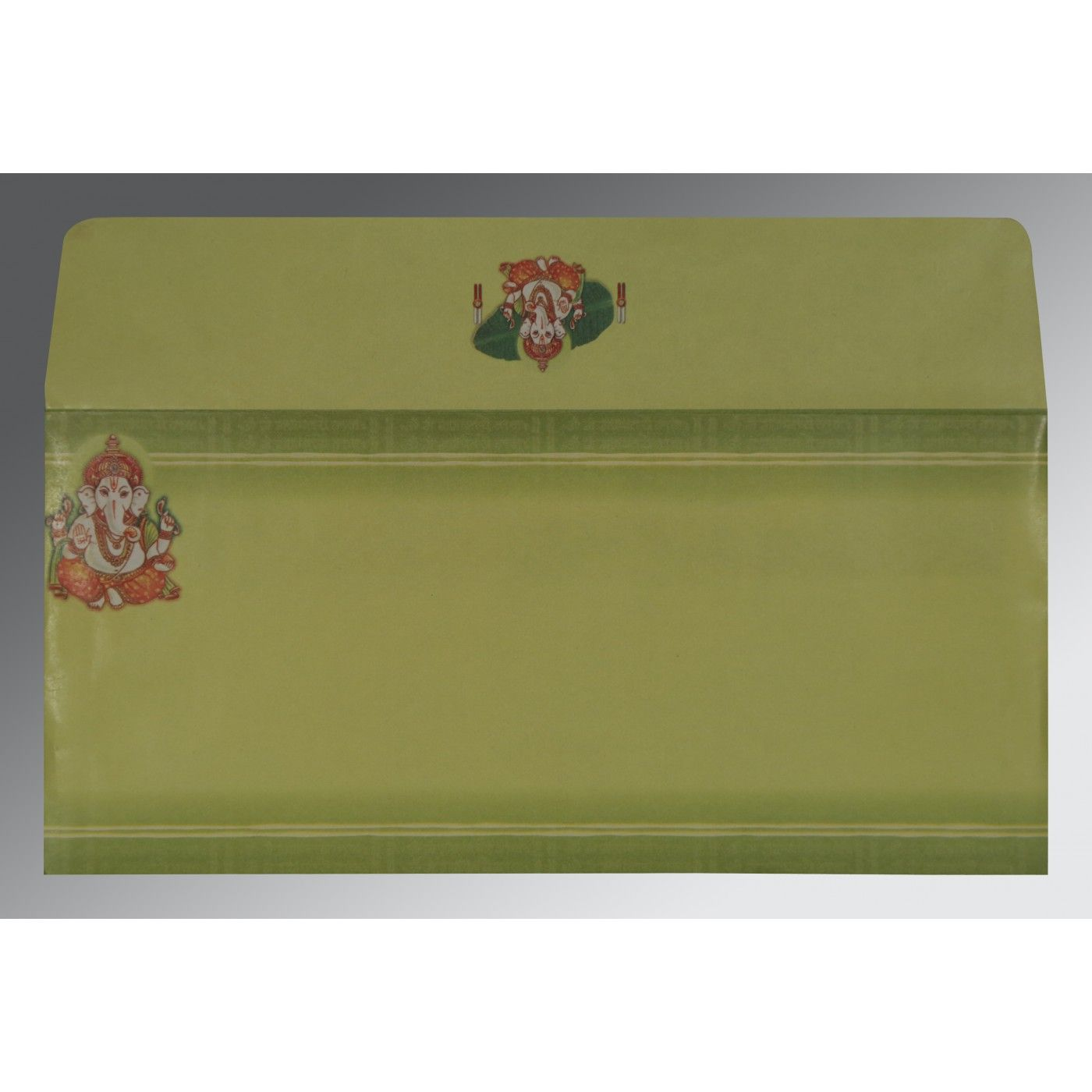 LIGHT GREEN MATTE EMBOSSED WEDDING CARD : CW-2054 - IndianWeddingCards
