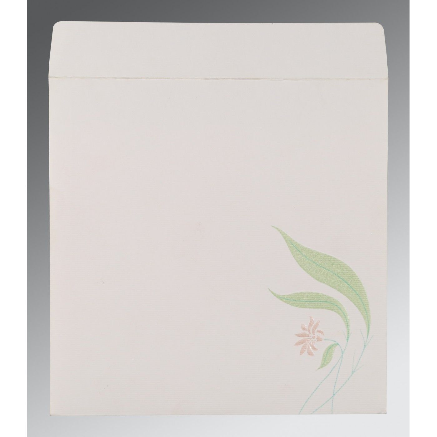OFF-WHITE MATTE FLORAL THEMED - EMBOSSED WEDDING INVITATION : CW-1114 - IndianWeddingCards
