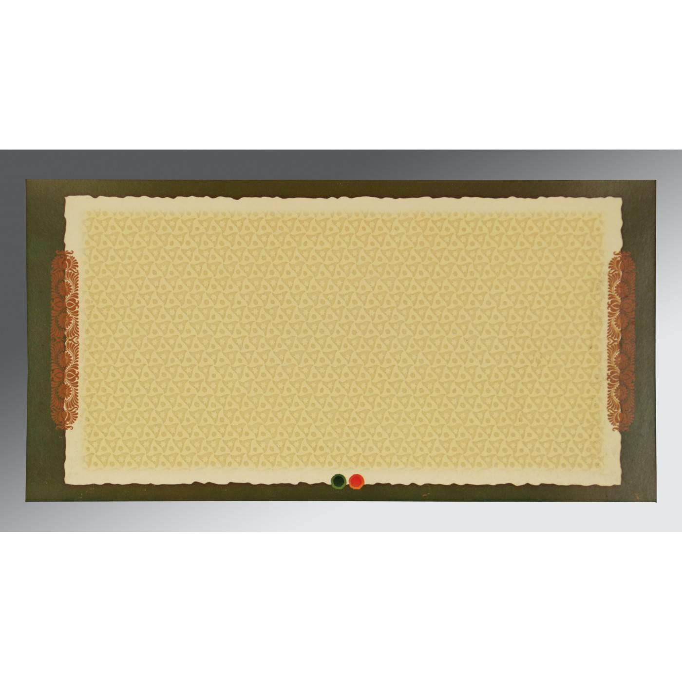 DARK RED MATTE OFFSET PRINTED WEDDING CARD : CW-2215 - IndianWeddingCards