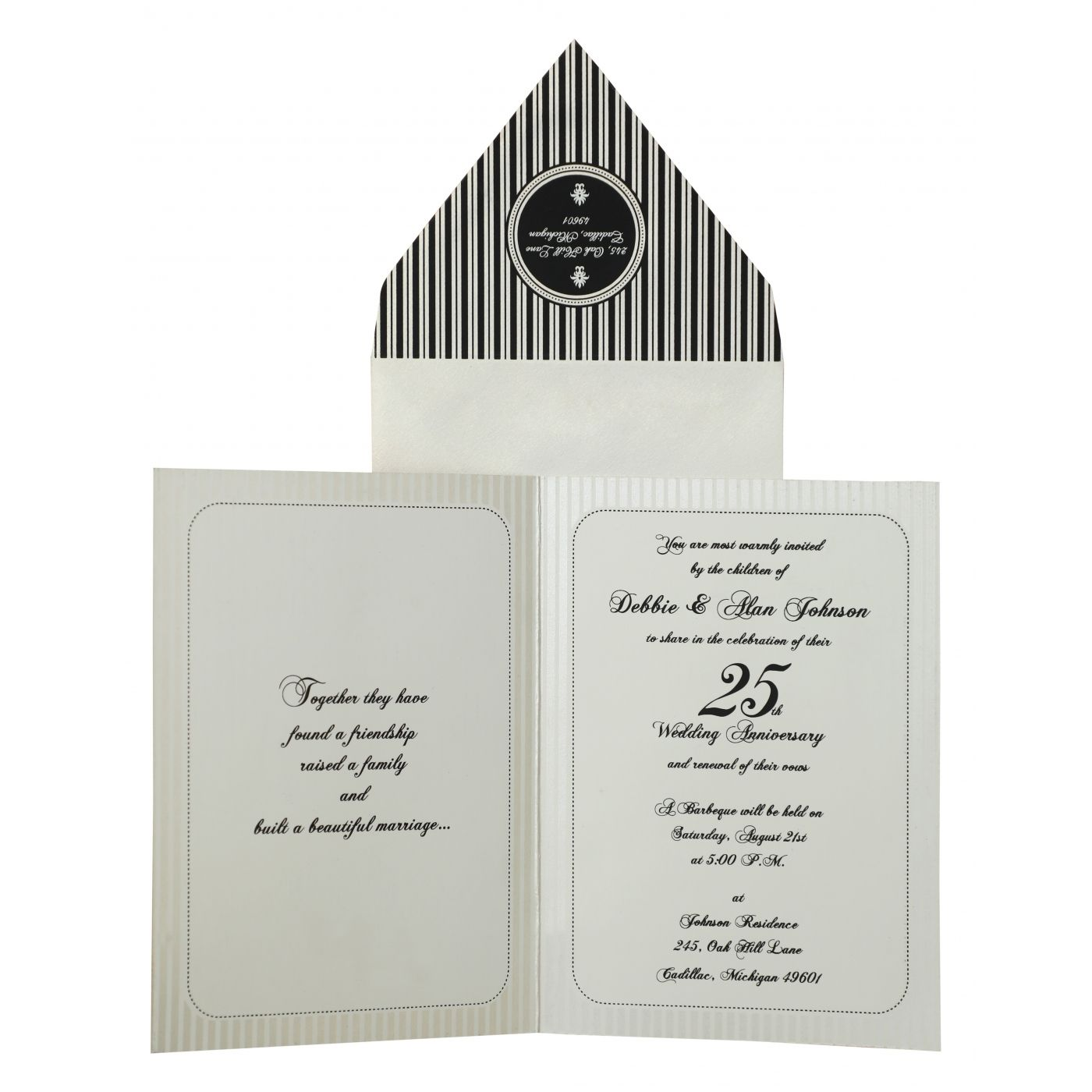 IVORY MATTE PAISLEY THEMED - SCREEN PRINTED PARTY CARDS : CPY-878 - IndianWeddingCards