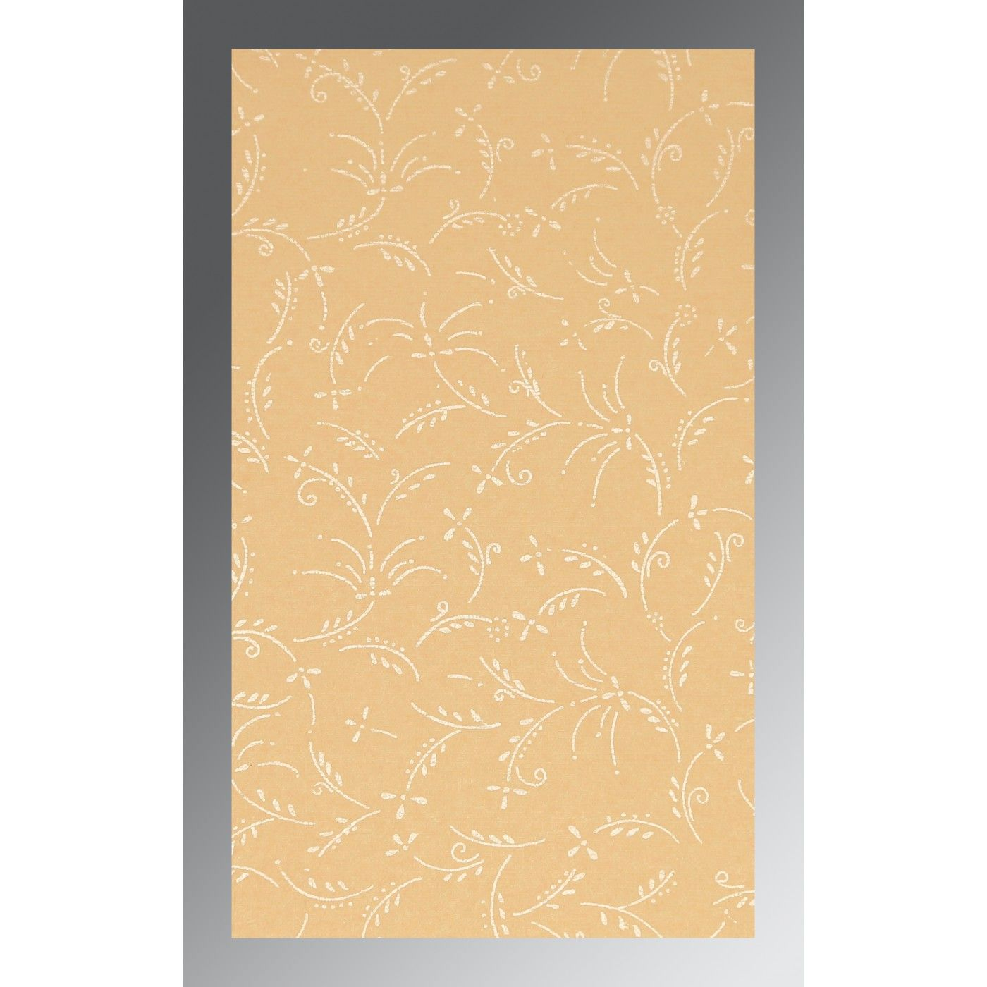 BEIGE MATTE SCREEN PRINTED WEDDING CARD : CS-1303 - IndianWeddingCards
