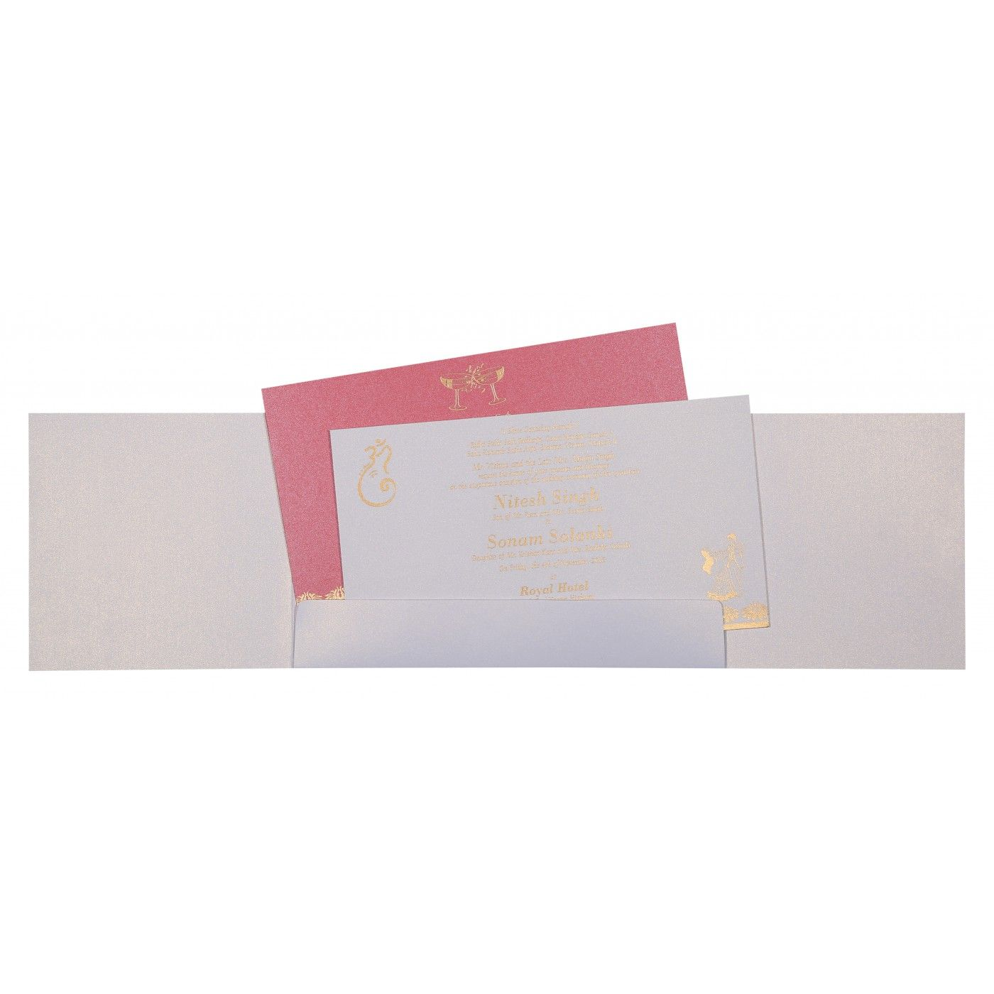 WEDDING INVITATION : CC-8261F - IndianWeddingCards