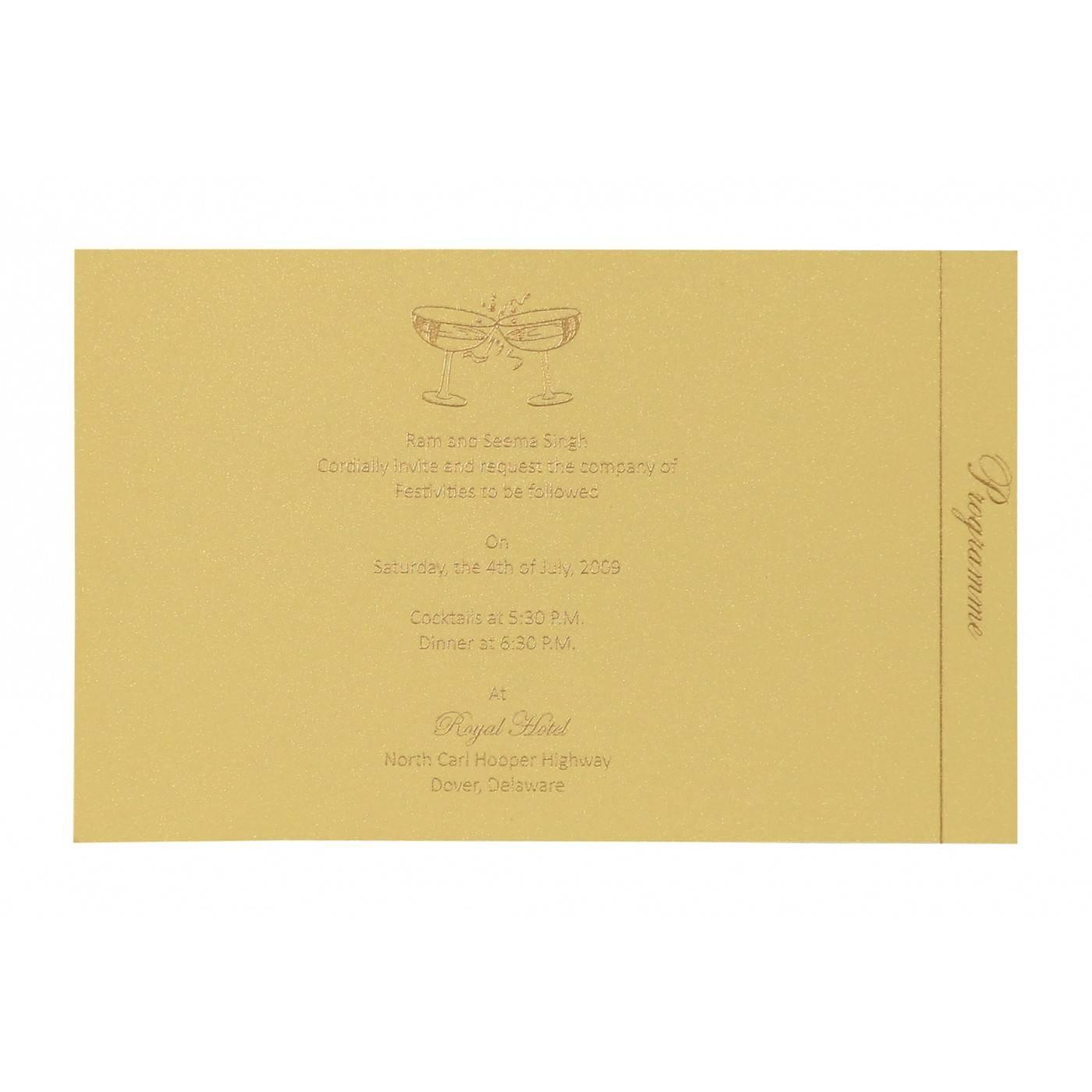 KHAKI SHIMMERY DAMASK THEMED - SCREEN PRINTED WEDDING CARD : CIN-8257B - IndianWeddingCards