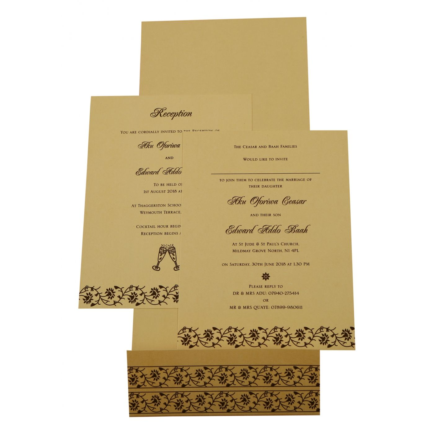 IVORY SHIMMERY FLORAL THEMED - SCREEN PRINTED WEDDING INVITATION : CD-822B - IndianWeddingCards