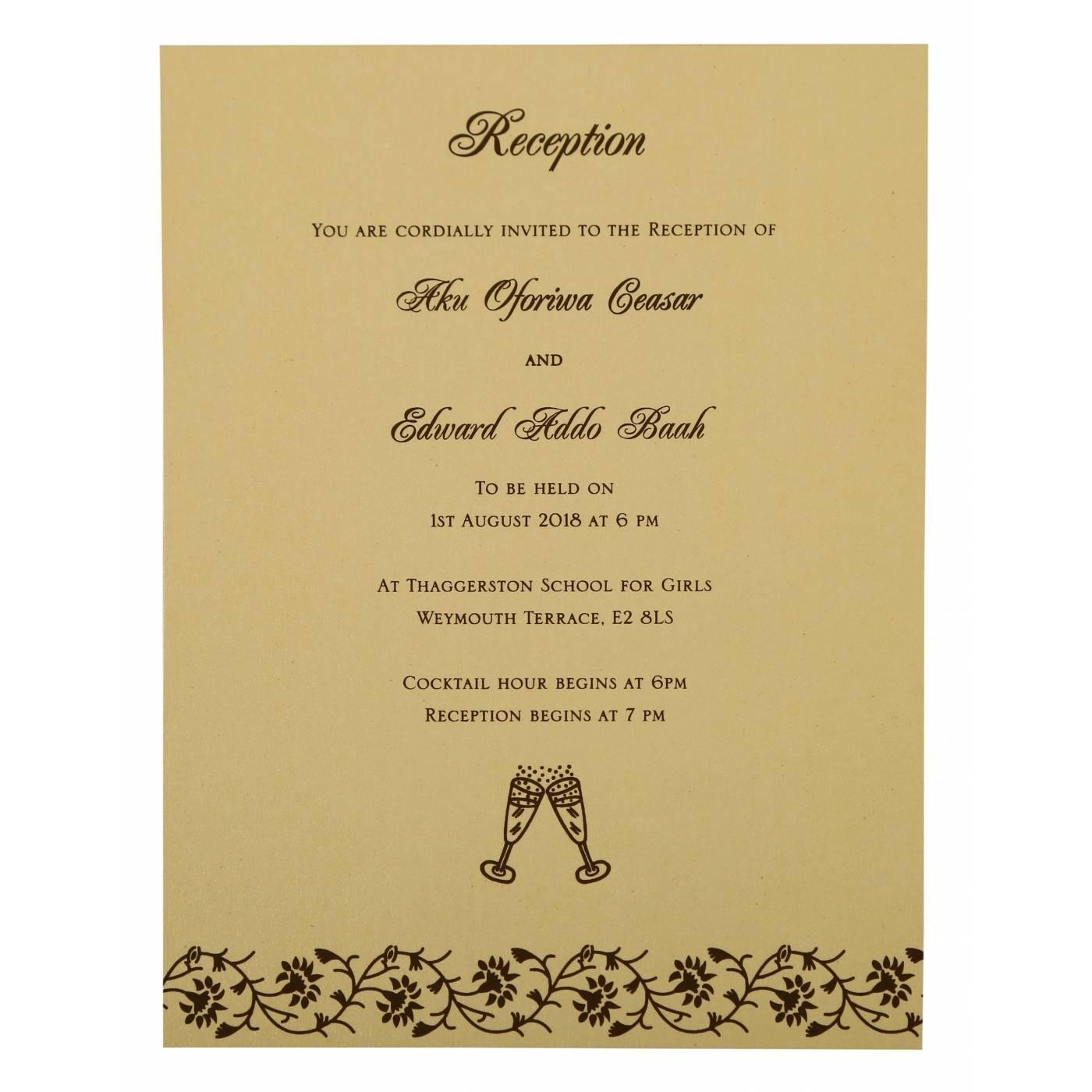 IVORY SHIMMERY FLORAL THEMED - SCREEN PRINTED WEDDING INVITATION : CIN-822B - IndianWeddingCards