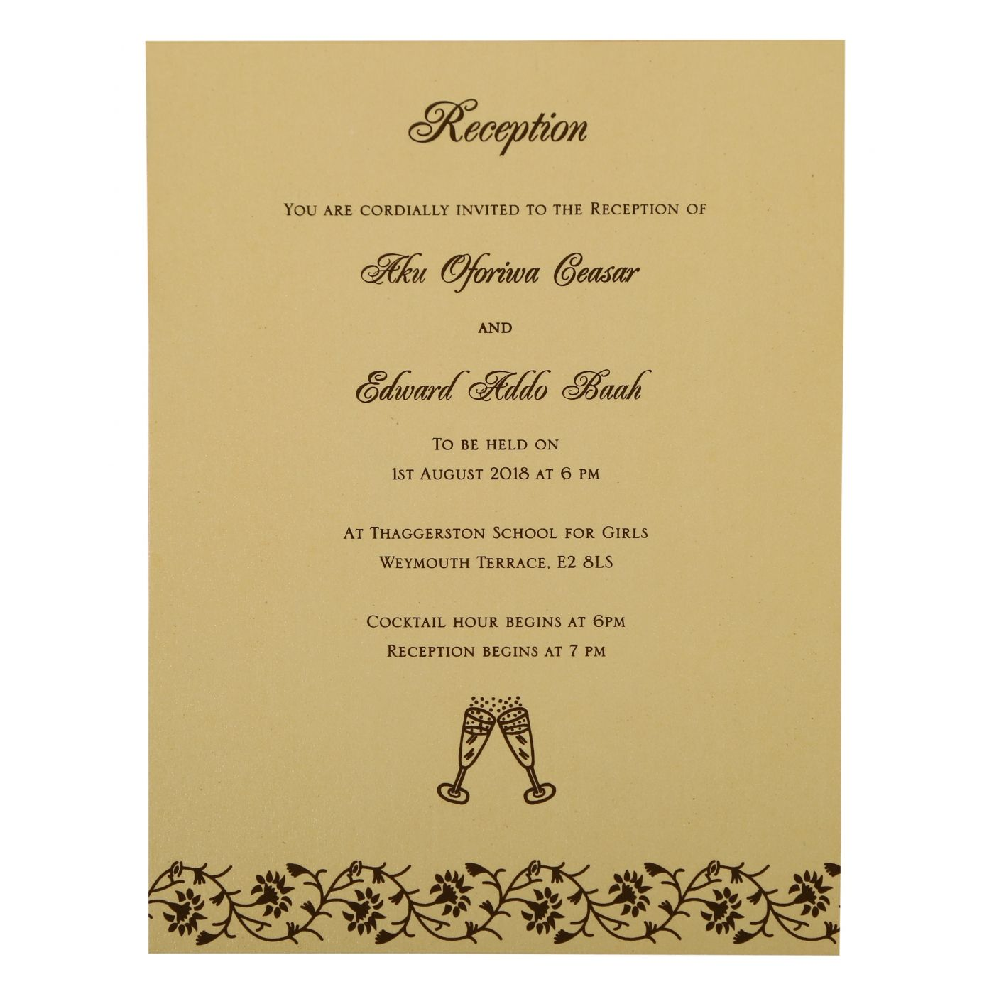IVORY SHIMMERY FLORAL THEMED - SCREEN PRINTED WEDDING INVITATION : CSO-822B - IndianWeddingCards