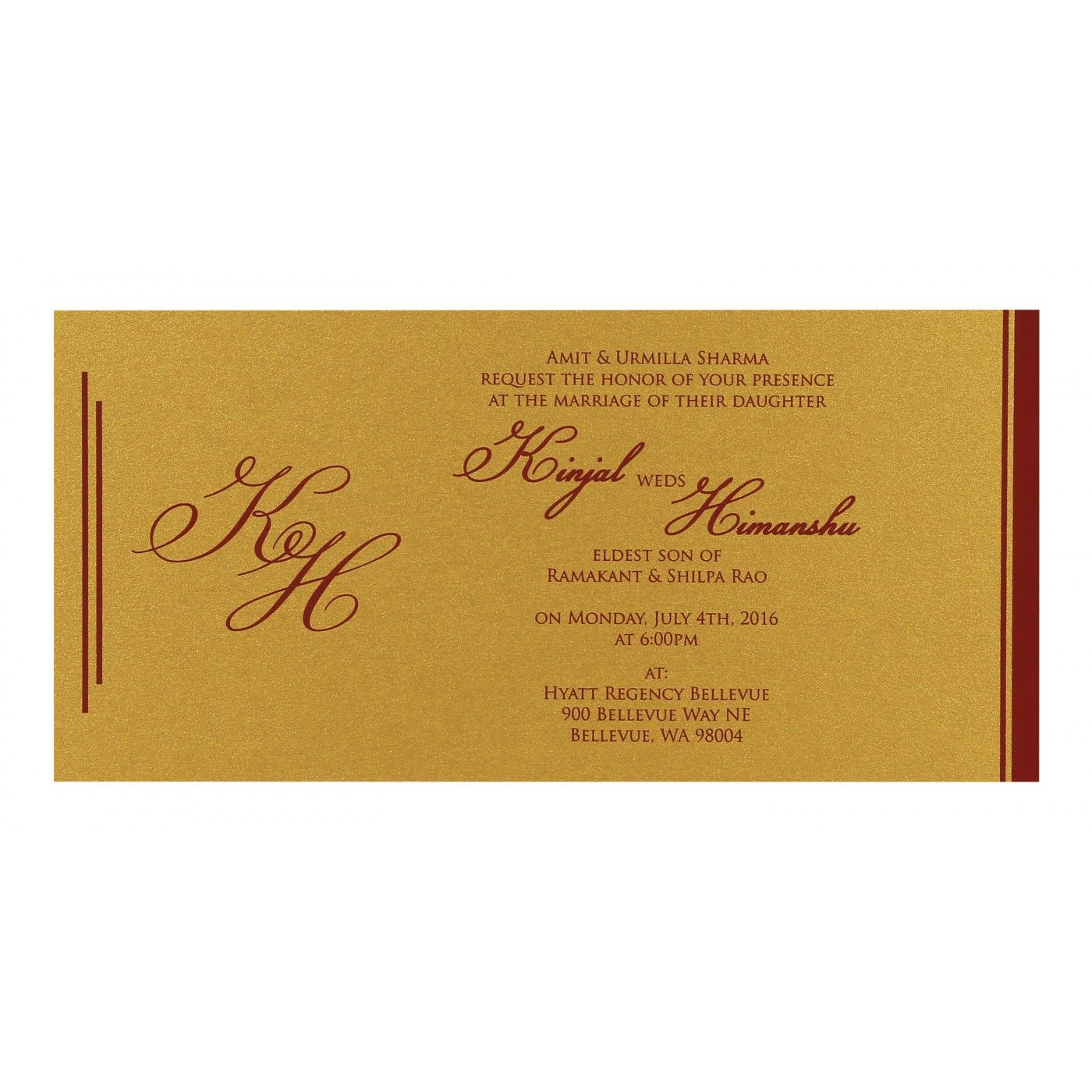 WEDDING CARD : CC-8259A - IndianWeddingCards
