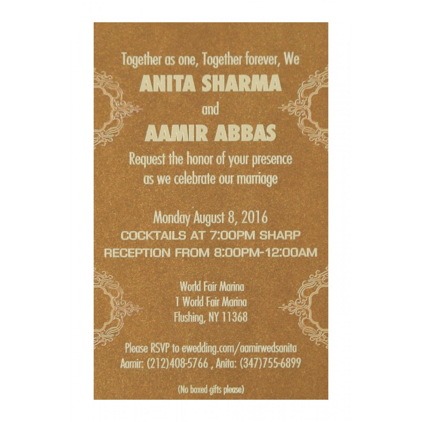 IVORY SHIMMERY LASER CUT WEDDING INVITATION : CI-1588 - IndianWeddingCards