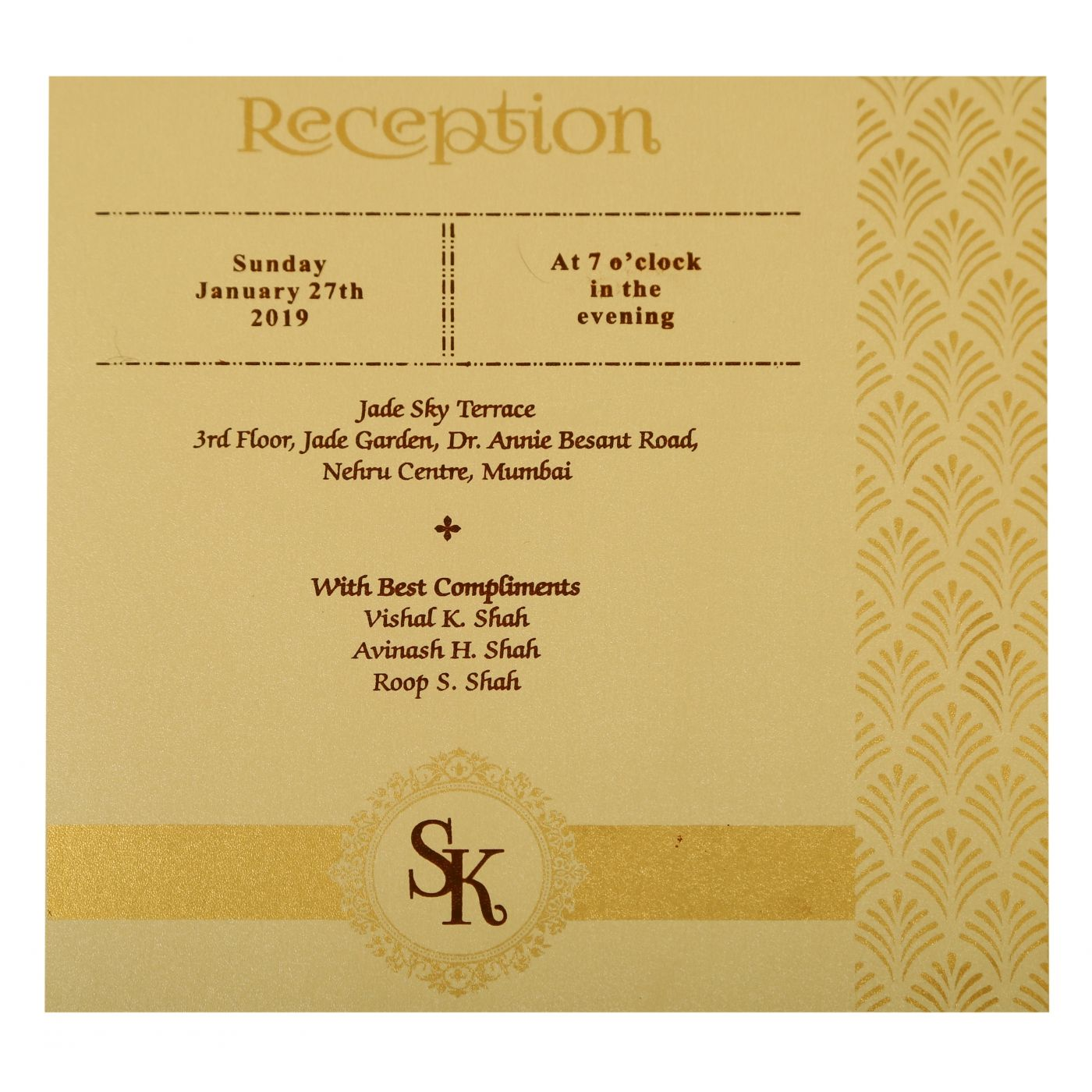 WEDDING INVITATION : CC-1929 - IndianWeddingCards