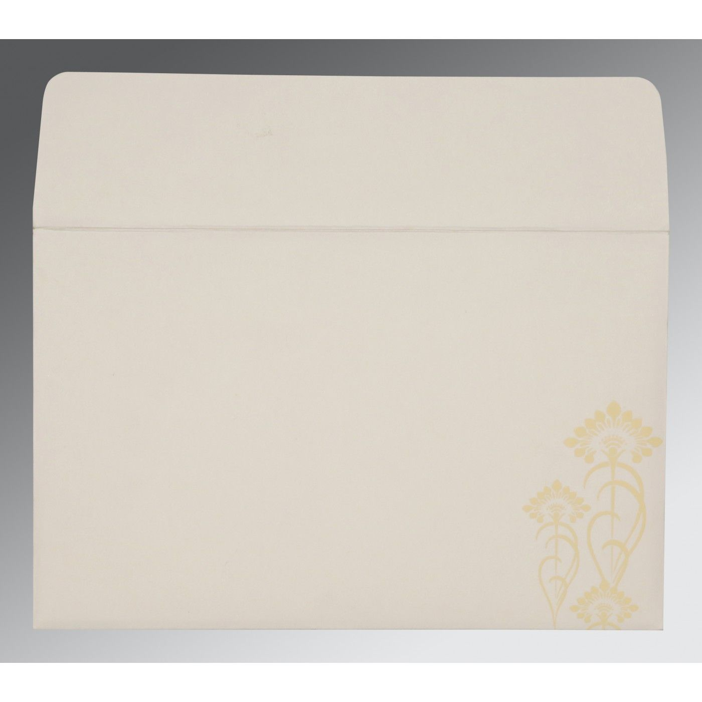CREAM SHIMMERY SCREEN PRINTED WEDDING CARD : CD-8239I - IndianWeddingCards