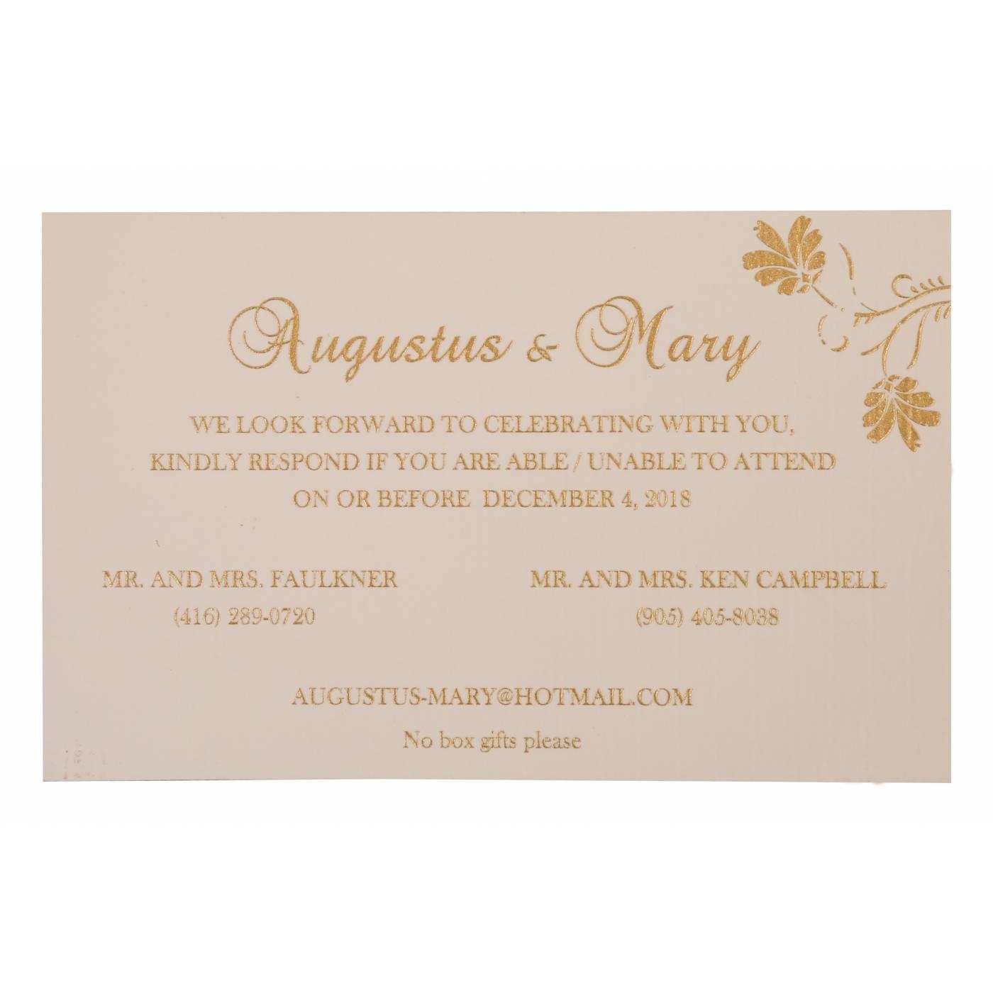 BEIGE SHIMMERY SCREEN PRINTED WEDDING INVITATION : CG-803E - IndianWeddingCards