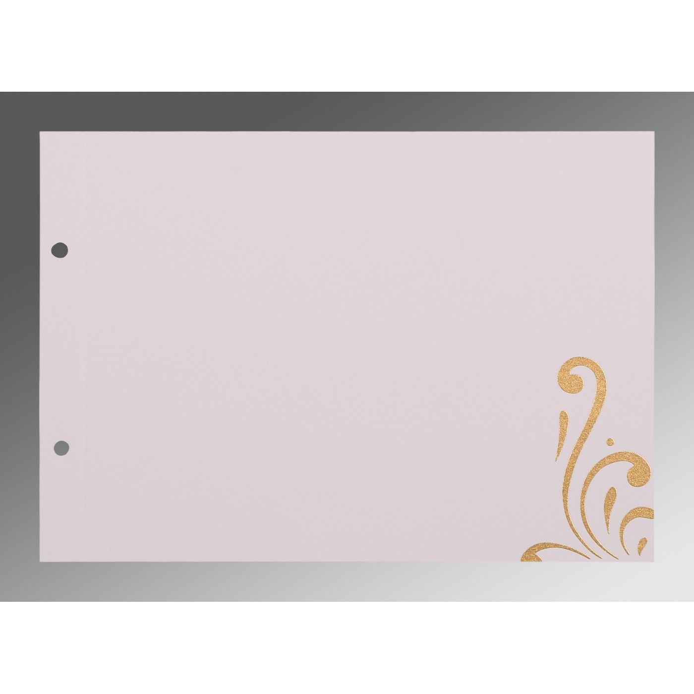 CHAMOISEE SHIMMERY SCREEN PRINTED WEDDING CARD : CRU-8223L - IndianWeddingCards